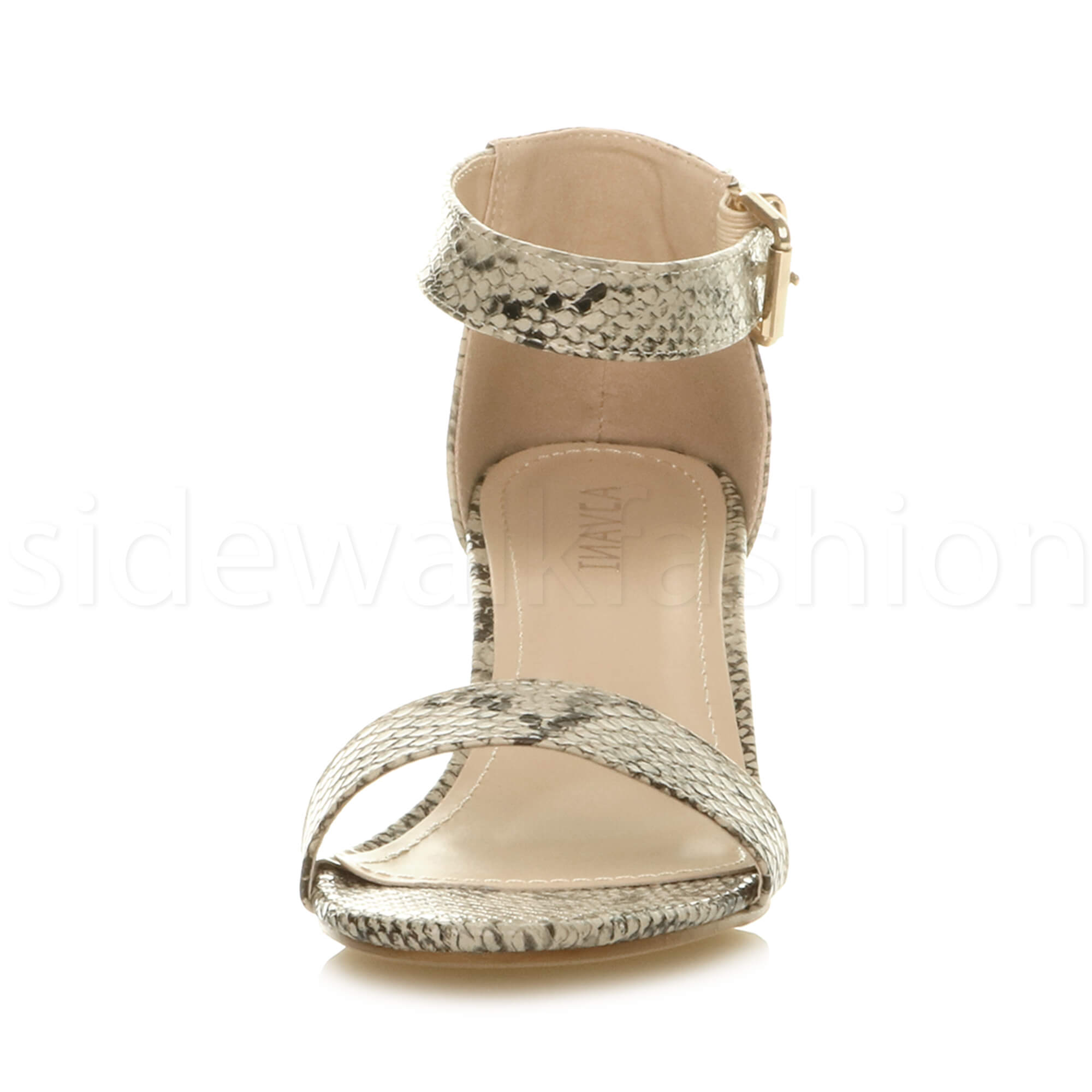 Womens-ladies-low-mid-heel-buckle-ankle-strap-peep-toe-party-strappy-sandal-size thumbnail 13
