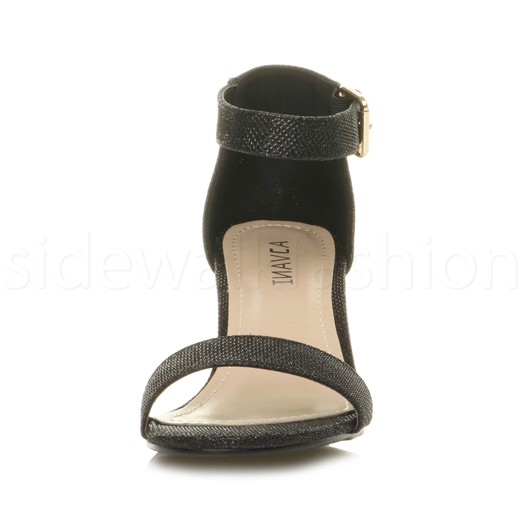 Womens-ladies-low-mid-heel-buckle-ankle-strap-peep-toe-party-strappy-sandal-size thumbnail 20