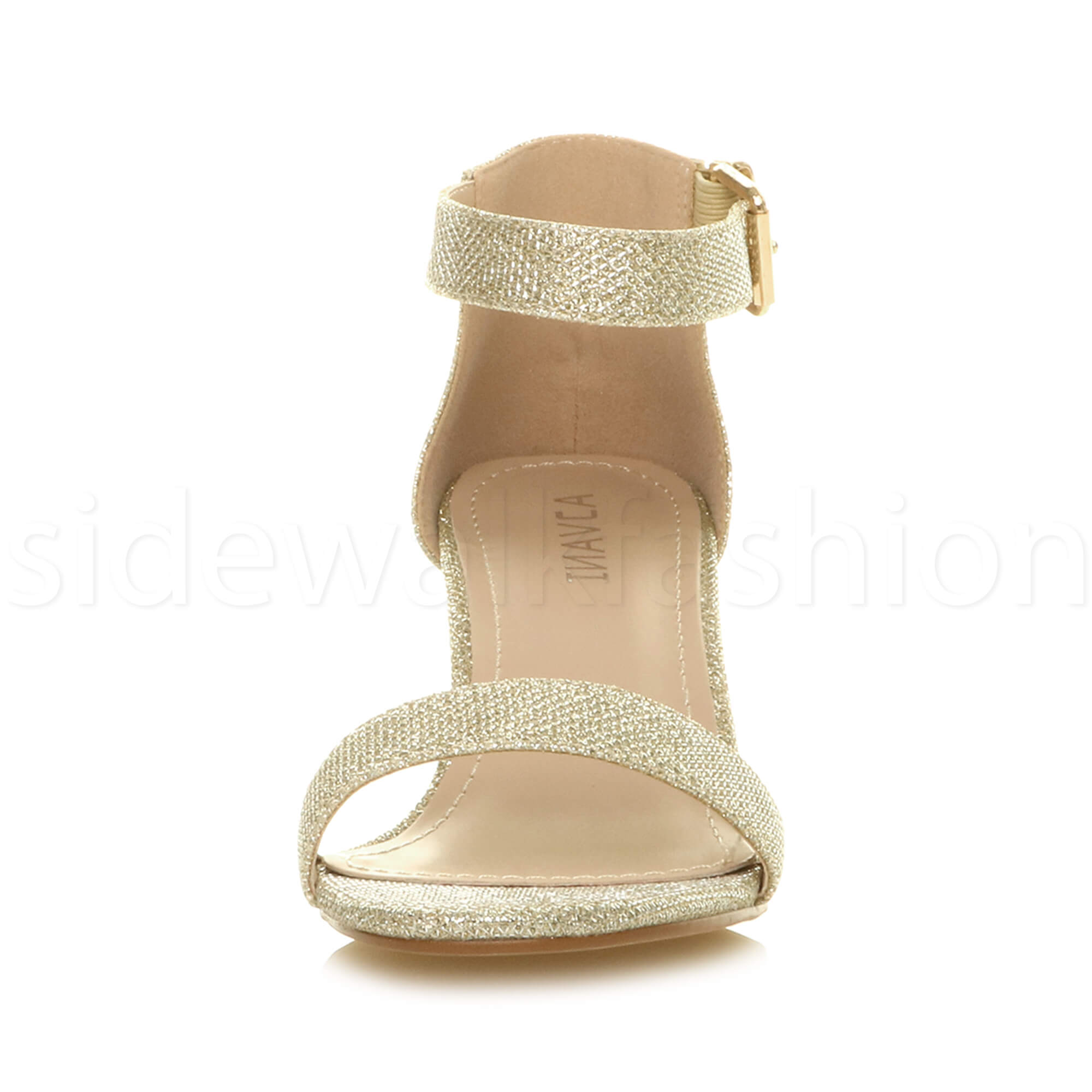 Womens-ladies-low-mid-heel-buckle-ankle-strap-peep-toe-party-strappy-sandal-size thumbnail 69