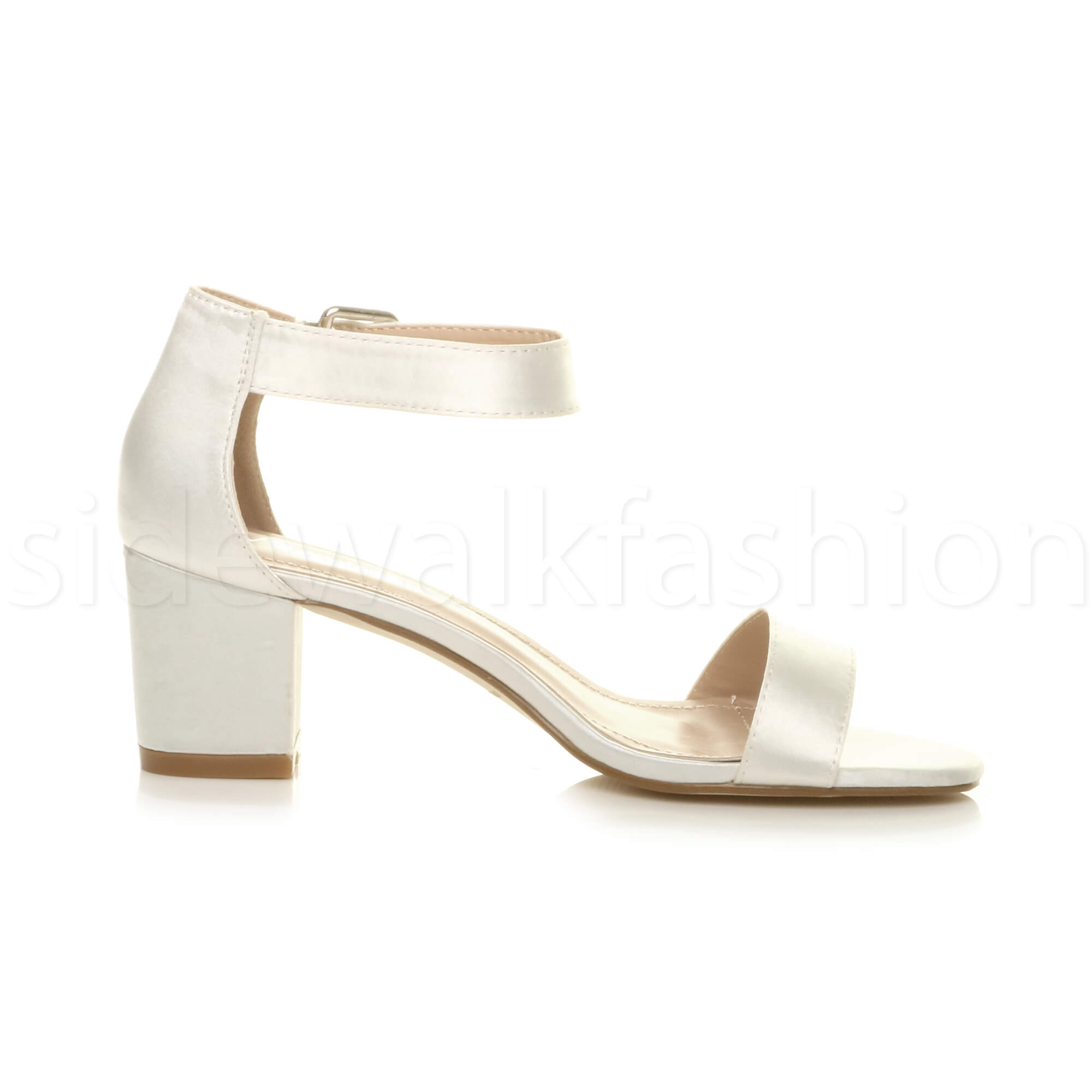 Womens-ladies-low-mid-heel-buckle-ankle-strap-peep-toe-party-strappy-sandal-size thumbnail 86