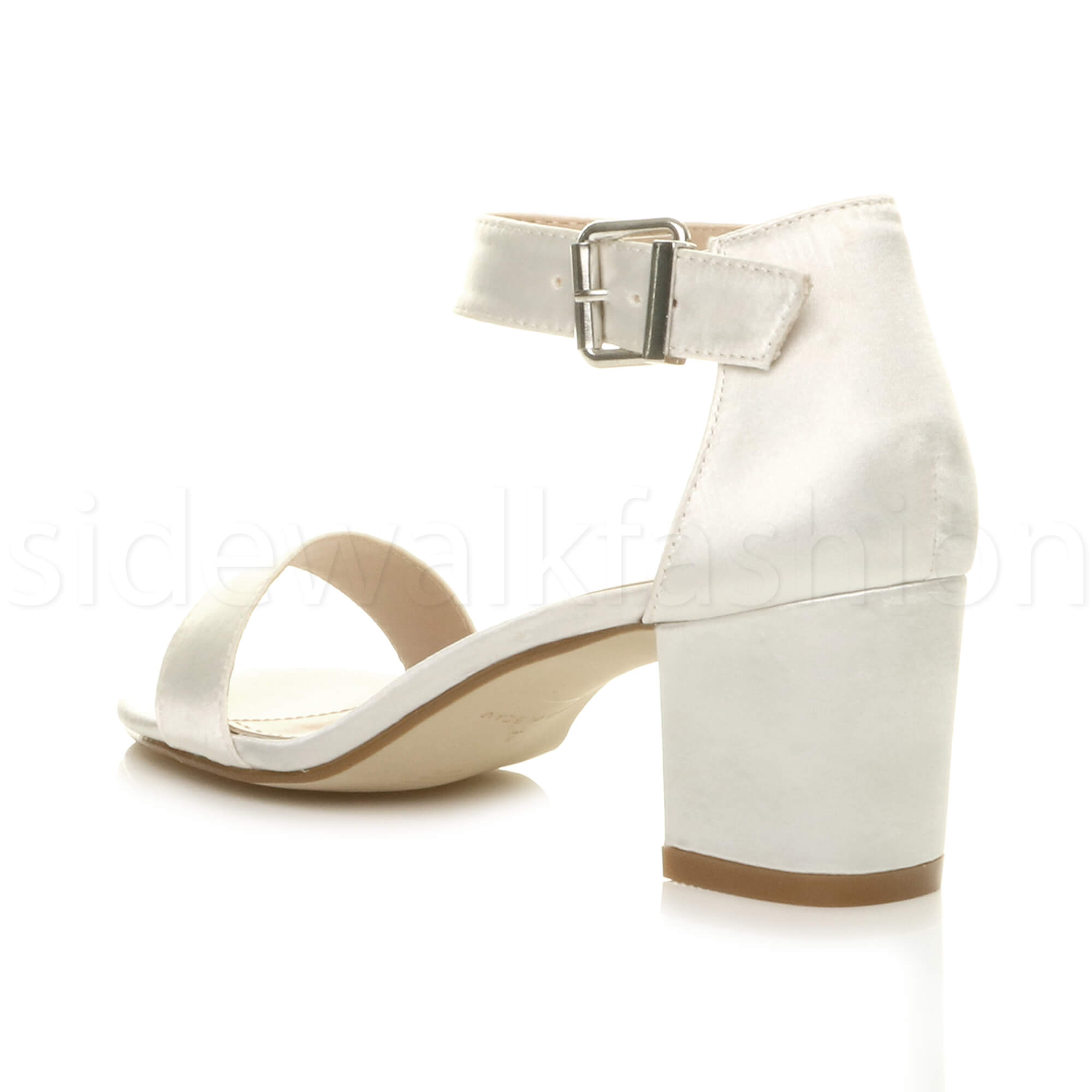 Womens-ladies-low-mid-heel-buckle-ankle-strap-peep-toe-party-strappy-sandal-size thumbnail 87