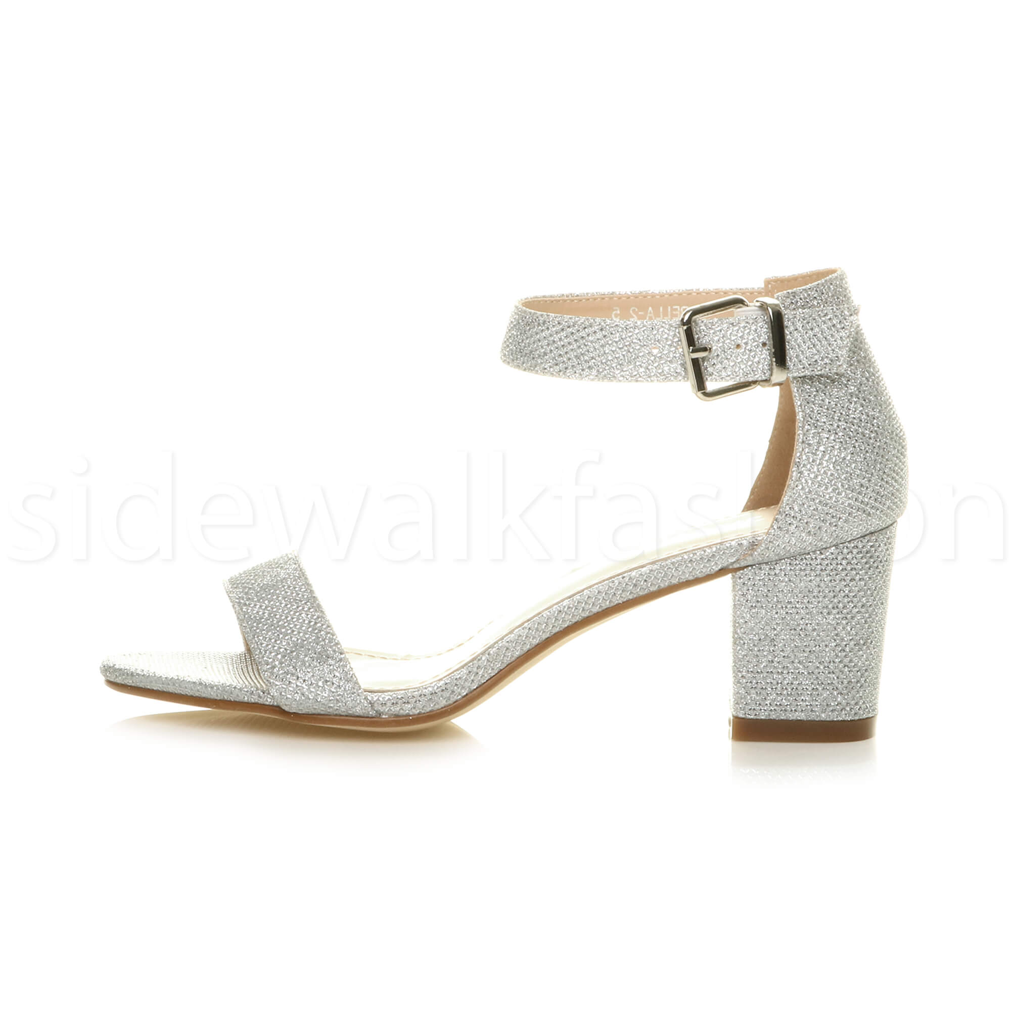 Womens-ladies-low-mid-heel-buckle-ankle-strap-peep-toe-party-strappy-sandal-size thumbnail 120