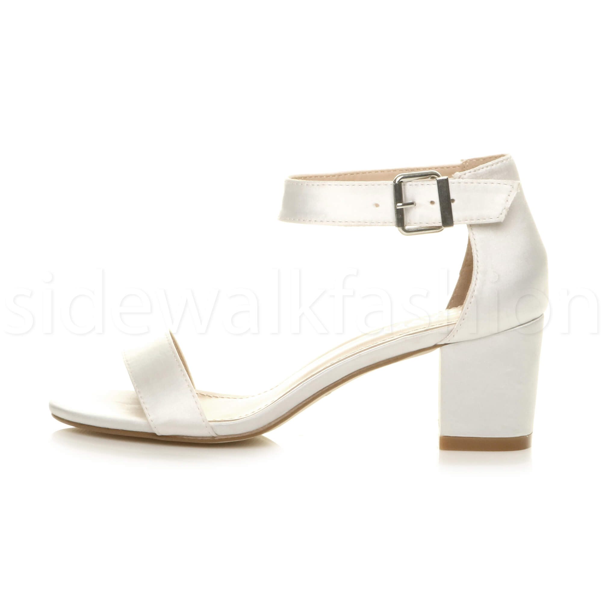 Womens-ladies-low-mid-heel-buckle-ankle-strap-peep-toe-party-strappy-sandal-size thumbnail 162
