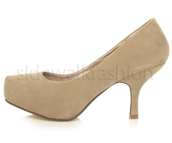 Womens-ladies-low-mid-heel-concealed-platform-work-party-court-shoes-pumps-size thumbnail 33