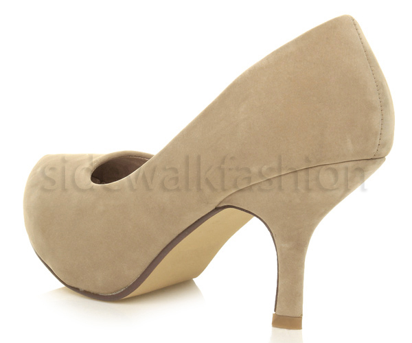 Womens-ladies-low-mid-heel-concealed-platform-work-party-court-shoes-pumps-size thumbnail 35