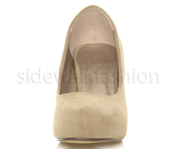 Womens-ladies-low-mid-heel-concealed-platform-work-party-court-shoes-pumps-size thumbnail 36