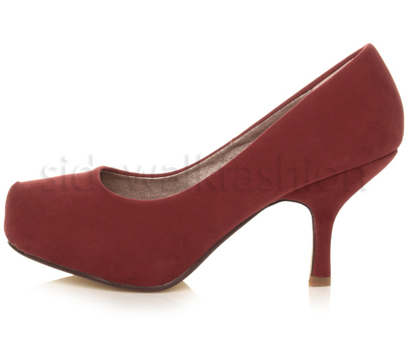 Womens-ladies-low-mid-heel-concealed-platform-work-party-court-shoes-pumps-size thumbnail 38