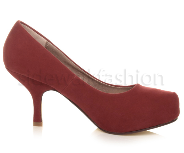 Womens-ladies-low-mid-heel-concealed-platform-work-party-court-shoes-pumps-size thumbnail 39