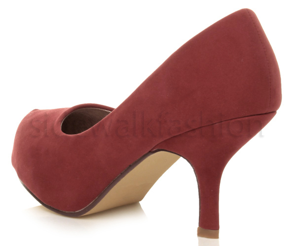 Womens-ladies-low-mid-heel-concealed-platform-work-party-court-shoes-pumps-size thumbnail 40
