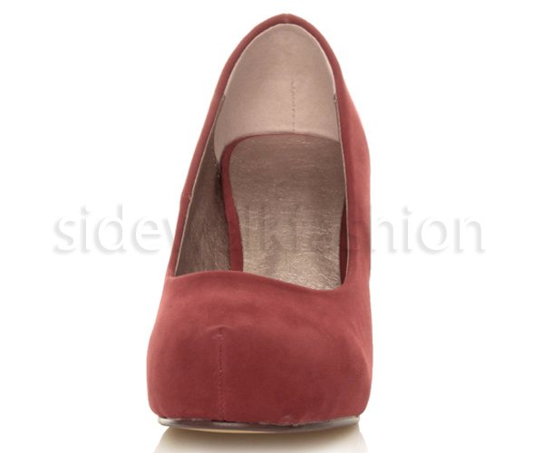 Womens-ladies-low-mid-heel-concealed-platform-work-party-court-shoes-pumps-size thumbnail 41