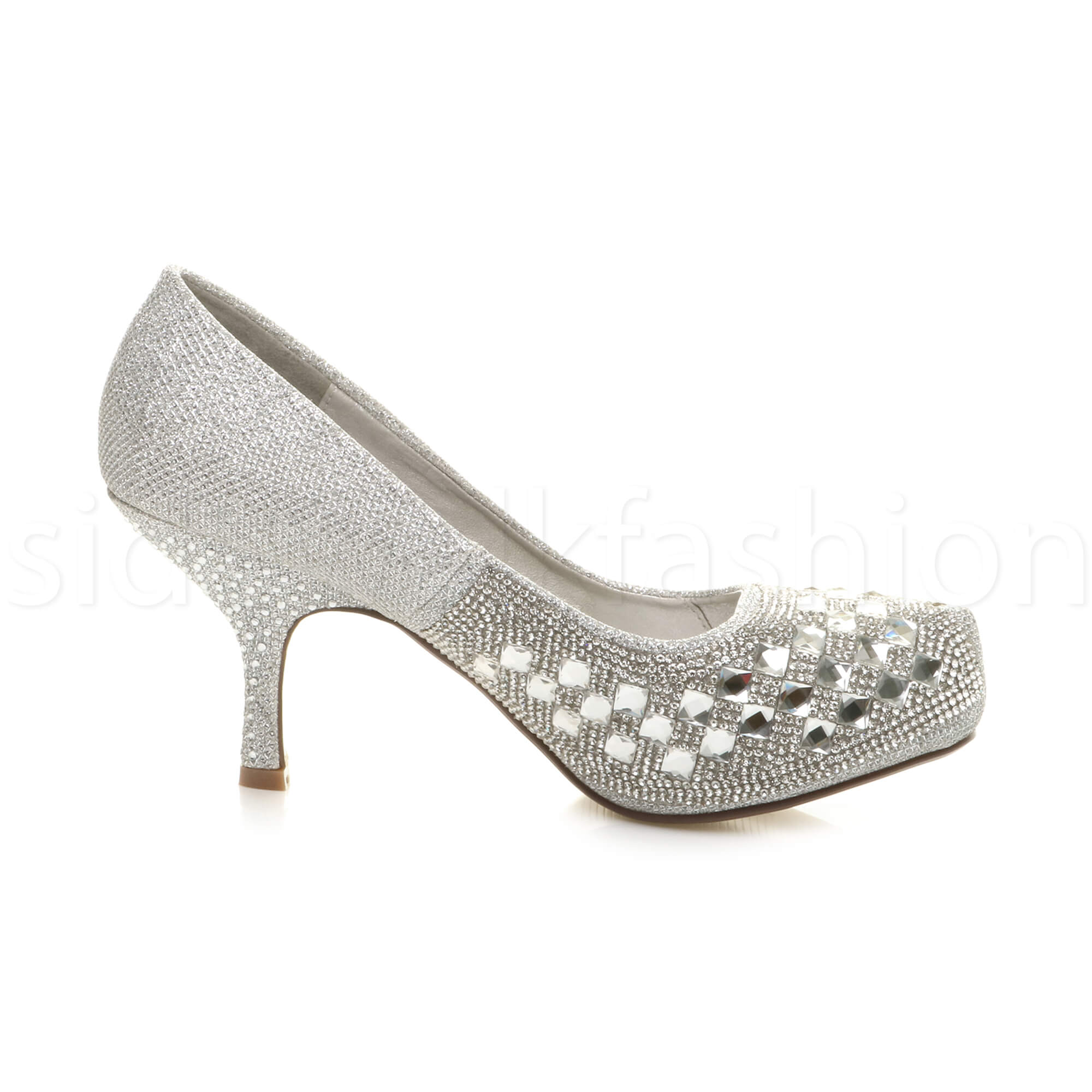 Womens-ladies-low-mid-heel-concealed-platform-work-party-court-shoes-pumps-size thumbnail 121