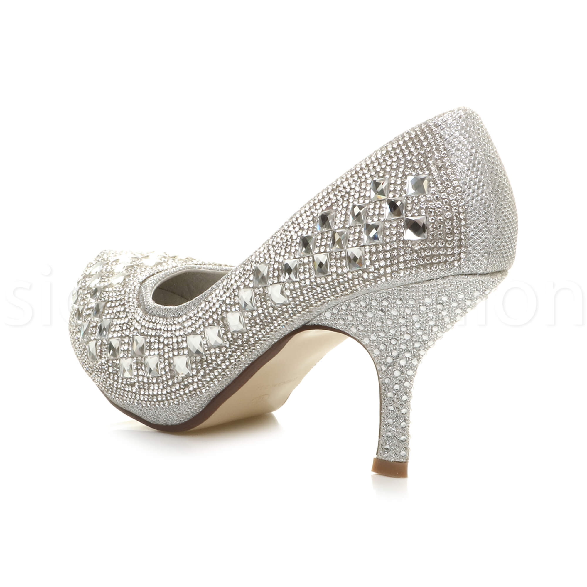 Womens-ladies-low-mid-heel-concealed-platform-work-party-court-shoes-pumps-size thumbnail 122