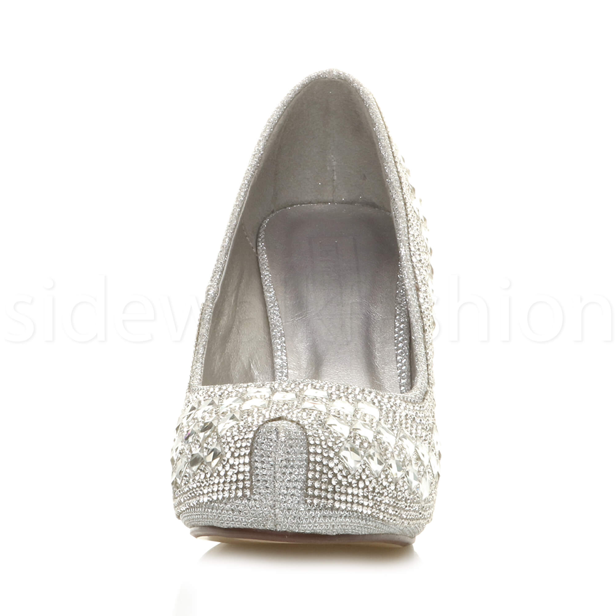 Womens-ladies-low-mid-heel-concealed-platform-work-party-court-shoes-pumps-size thumbnail 124
