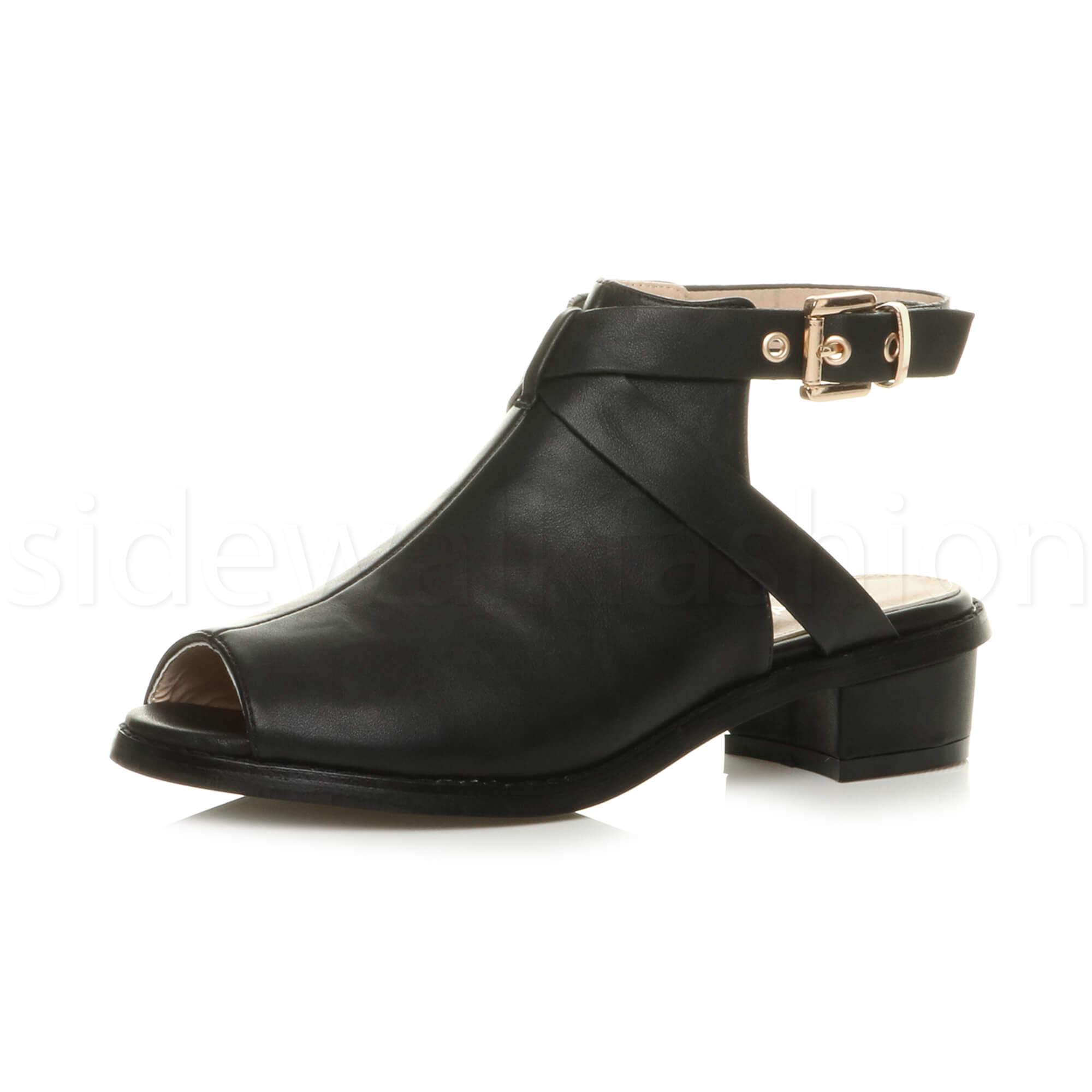 Black Peep Toes Lace Shoe Boots