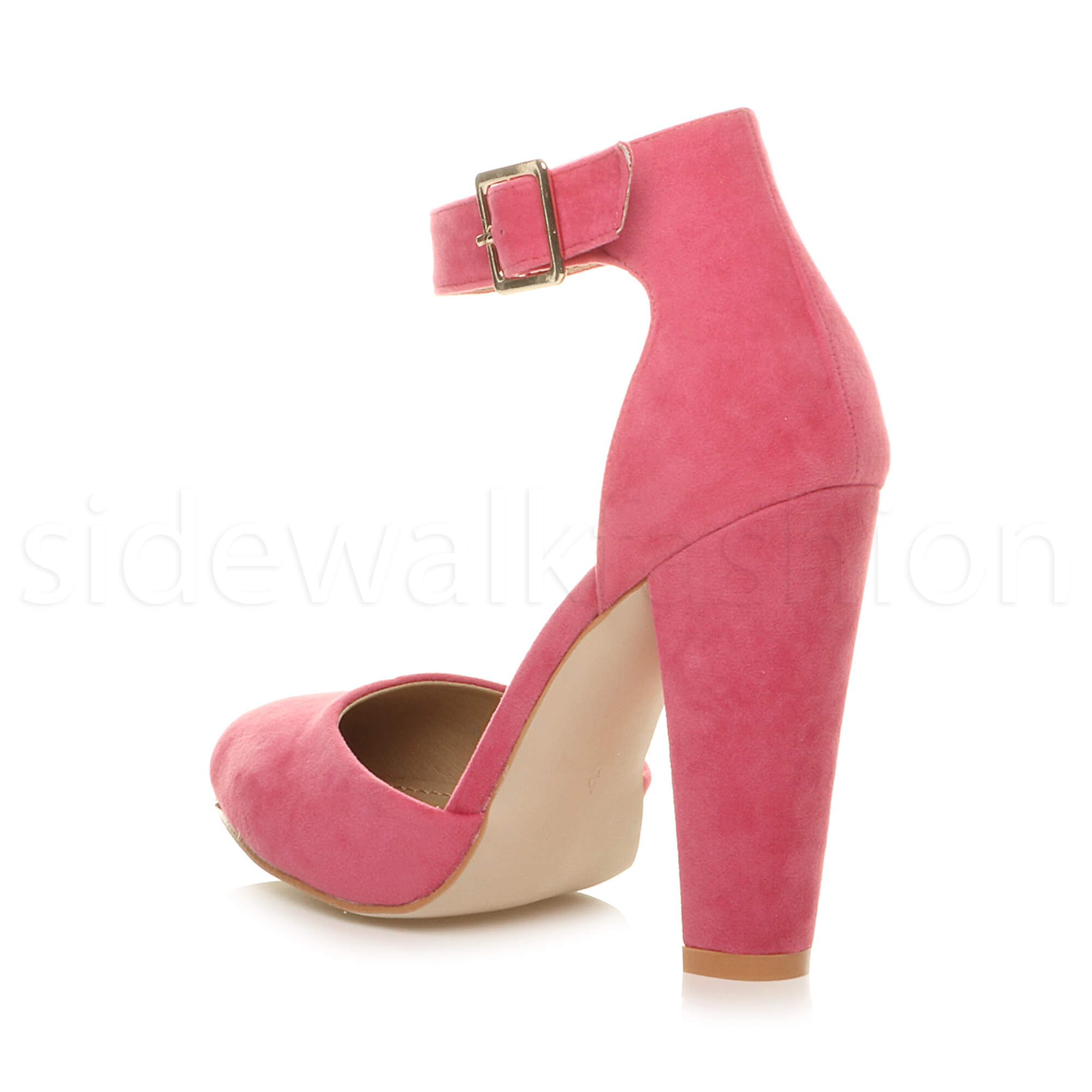 Coral / Pink suedette pointy toe court shoes with gold glitter heel ReHAzGn