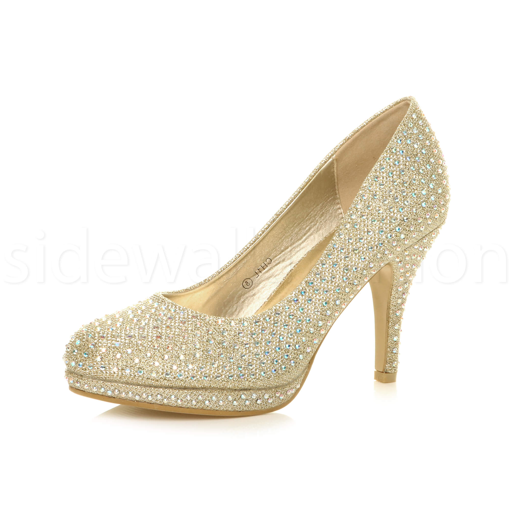 Womens-ladies-high-mid-heel-platform-wedding-evening-bridesmaid-court-shoes-size thumbnail 72