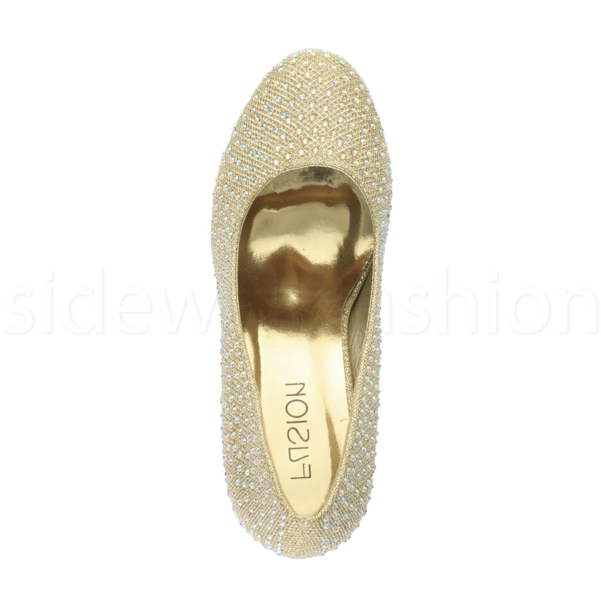 Womens-ladies-high-mid-heel-platform-wedding-evening-bridesmaid-court-shoes-size thumbnail 77