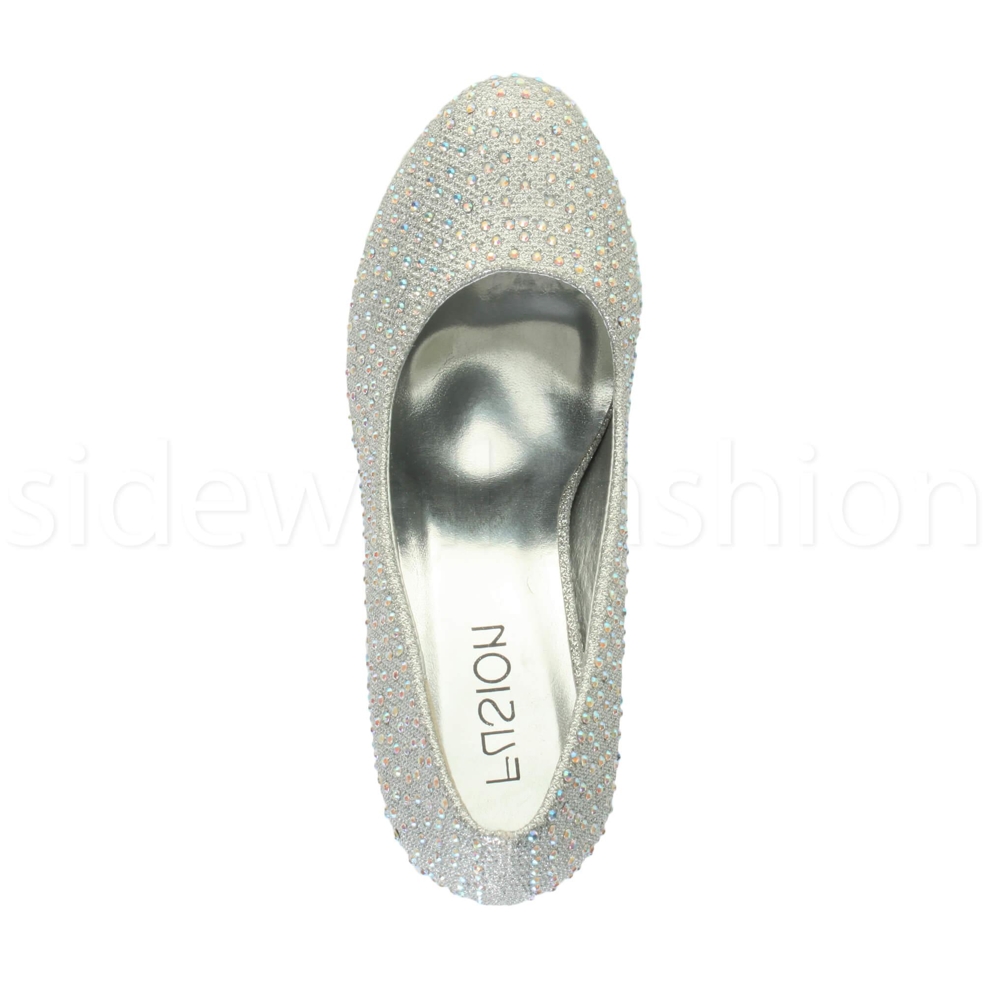 Womens-ladies-high-mid-heel-platform-wedding-evening-bridesmaid-court-shoes-size thumbnail 182