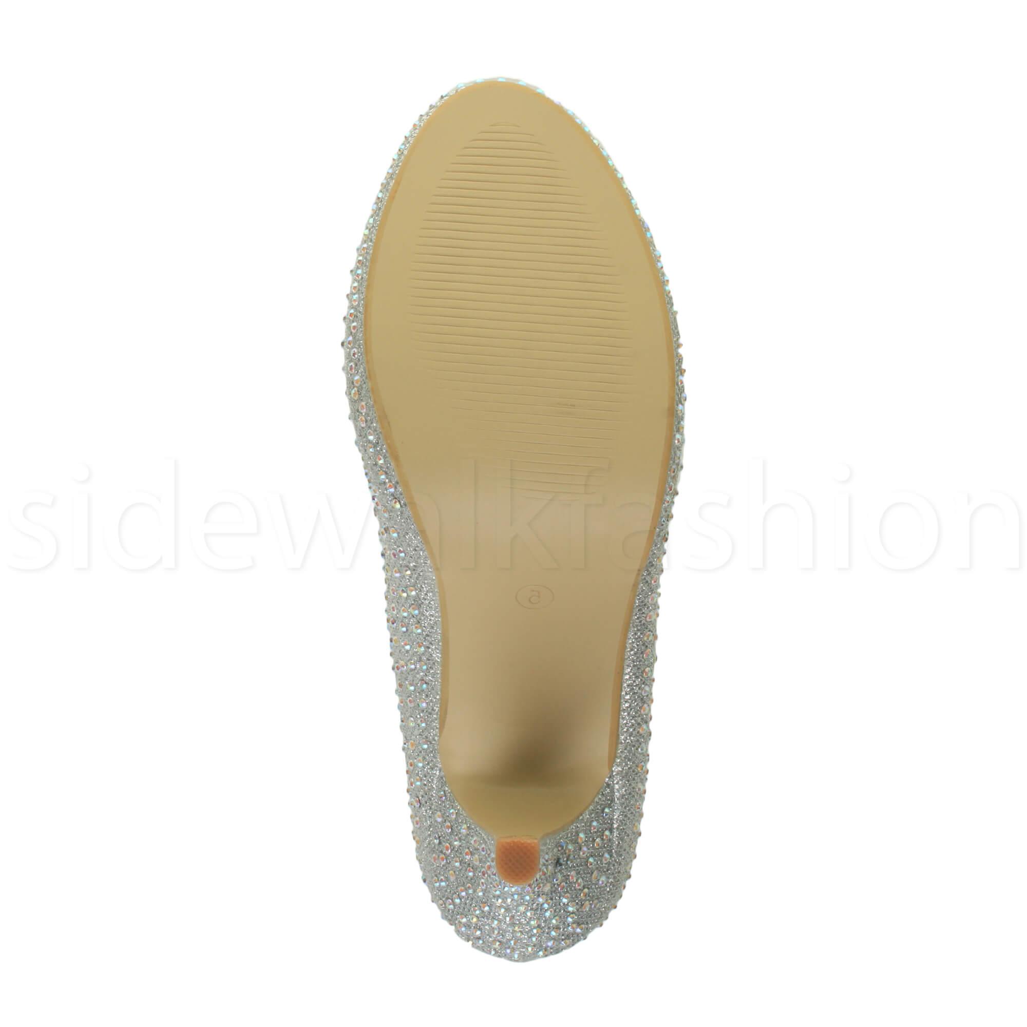 Womens-ladies-high-mid-heel-platform-wedding-evening-bridesmaid-court-shoes-size thumbnail 183