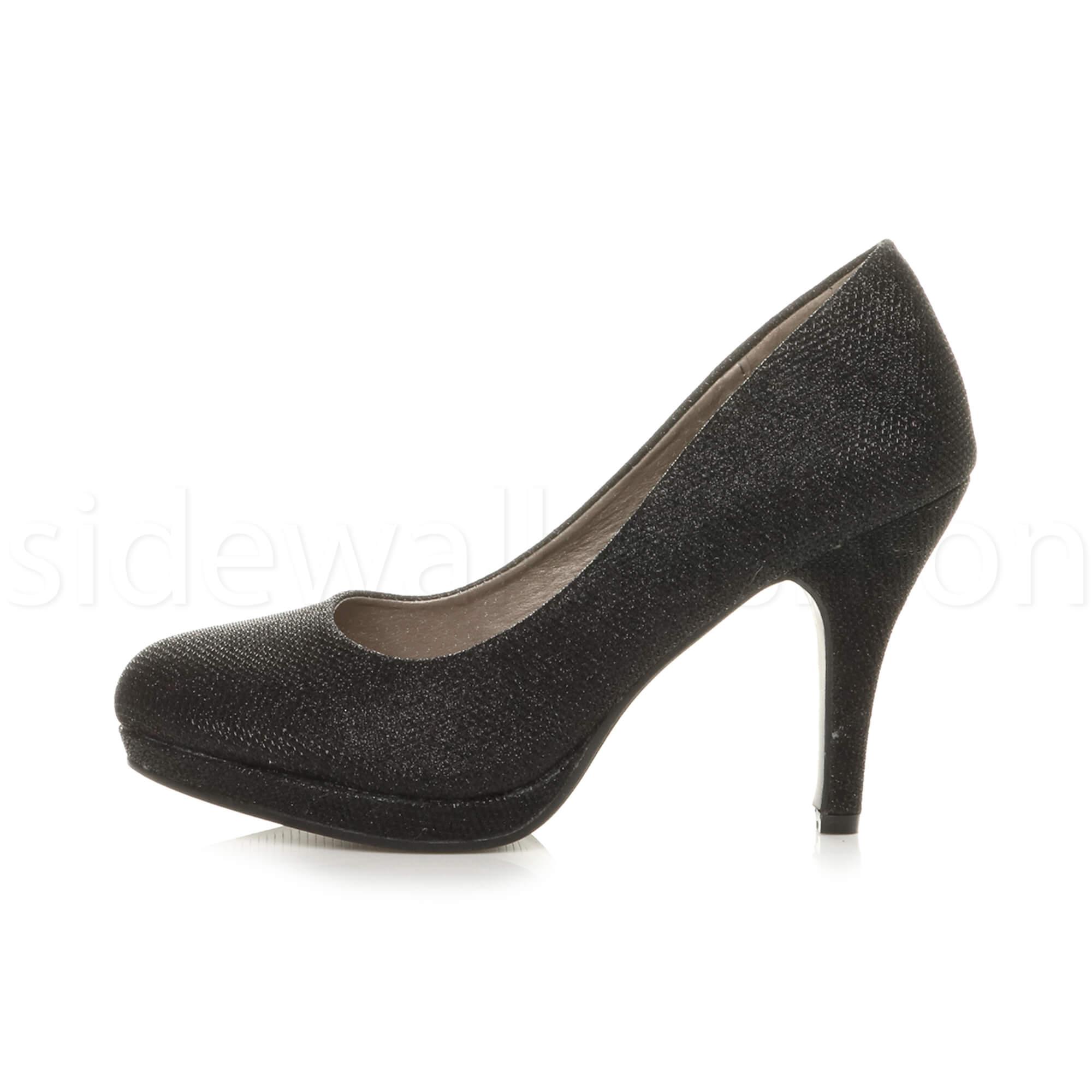 Womens-ladies-high-mid-heel-platform-wedding-evening-bridesmaid-court-shoes-size thumbnail 10