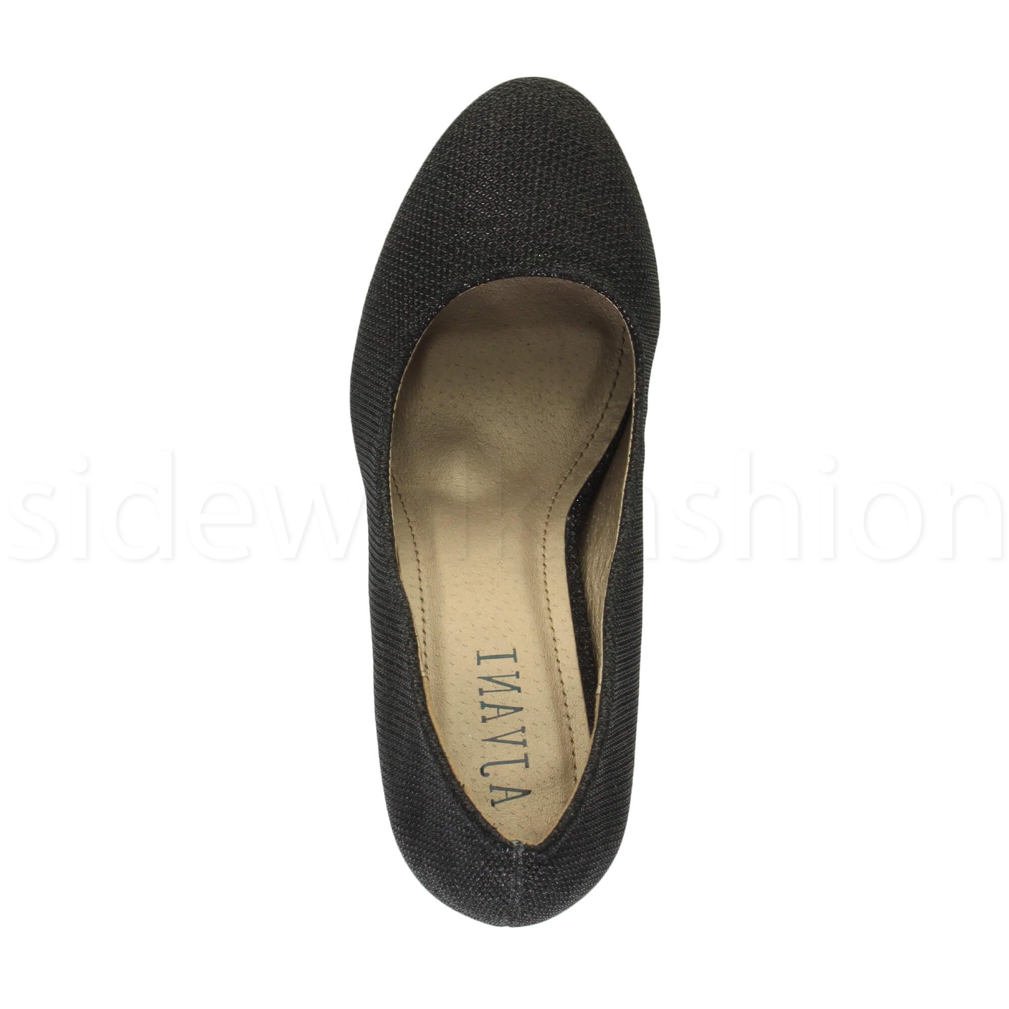 Womens-ladies-high-mid-heel-platform-wedding-evening-bridesmaid-court-shoes-size thumbnail 14