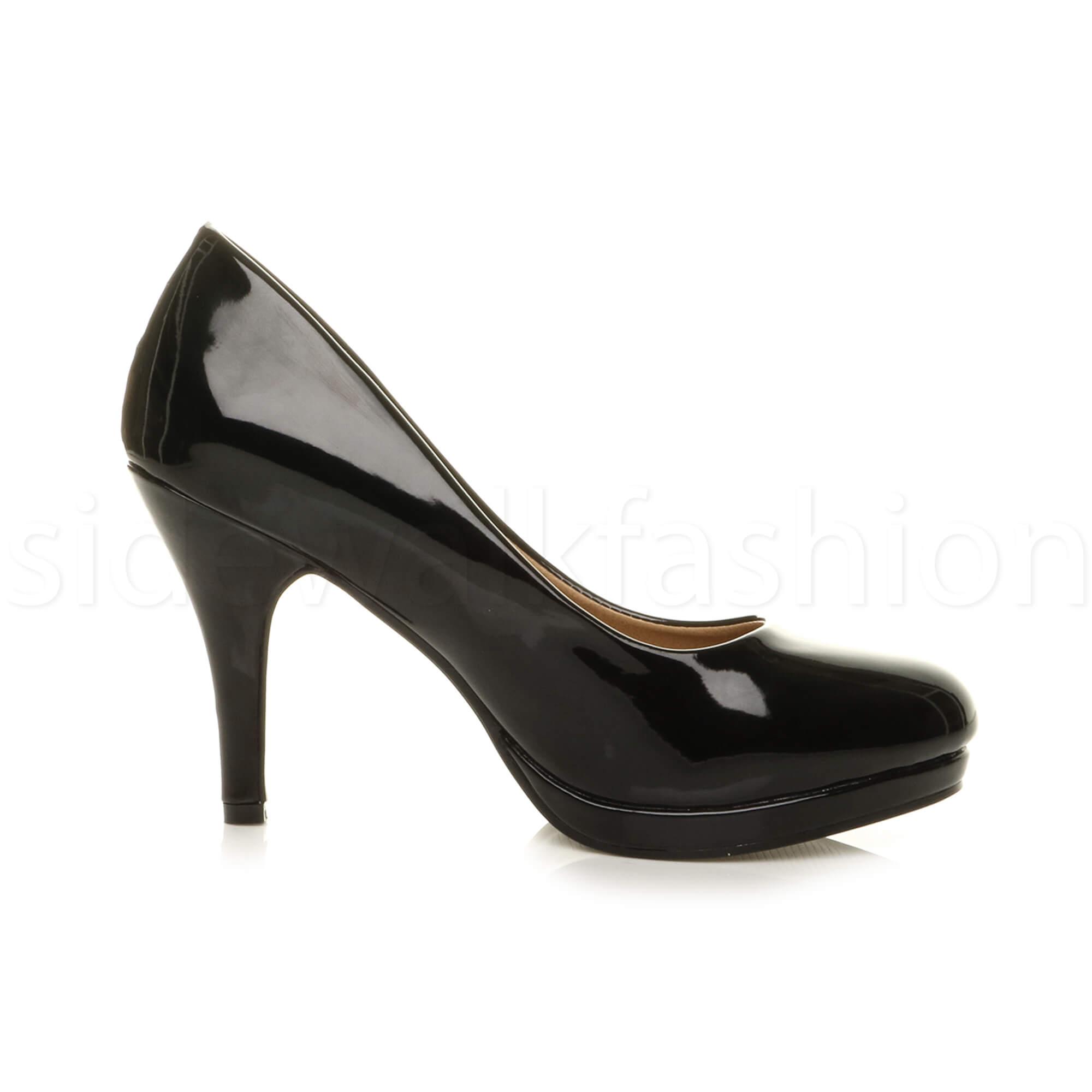 Womens-ladies-high-mid-heel-platform-wedding-evening-bridesmaid-court-shoes-size thumbnail 25