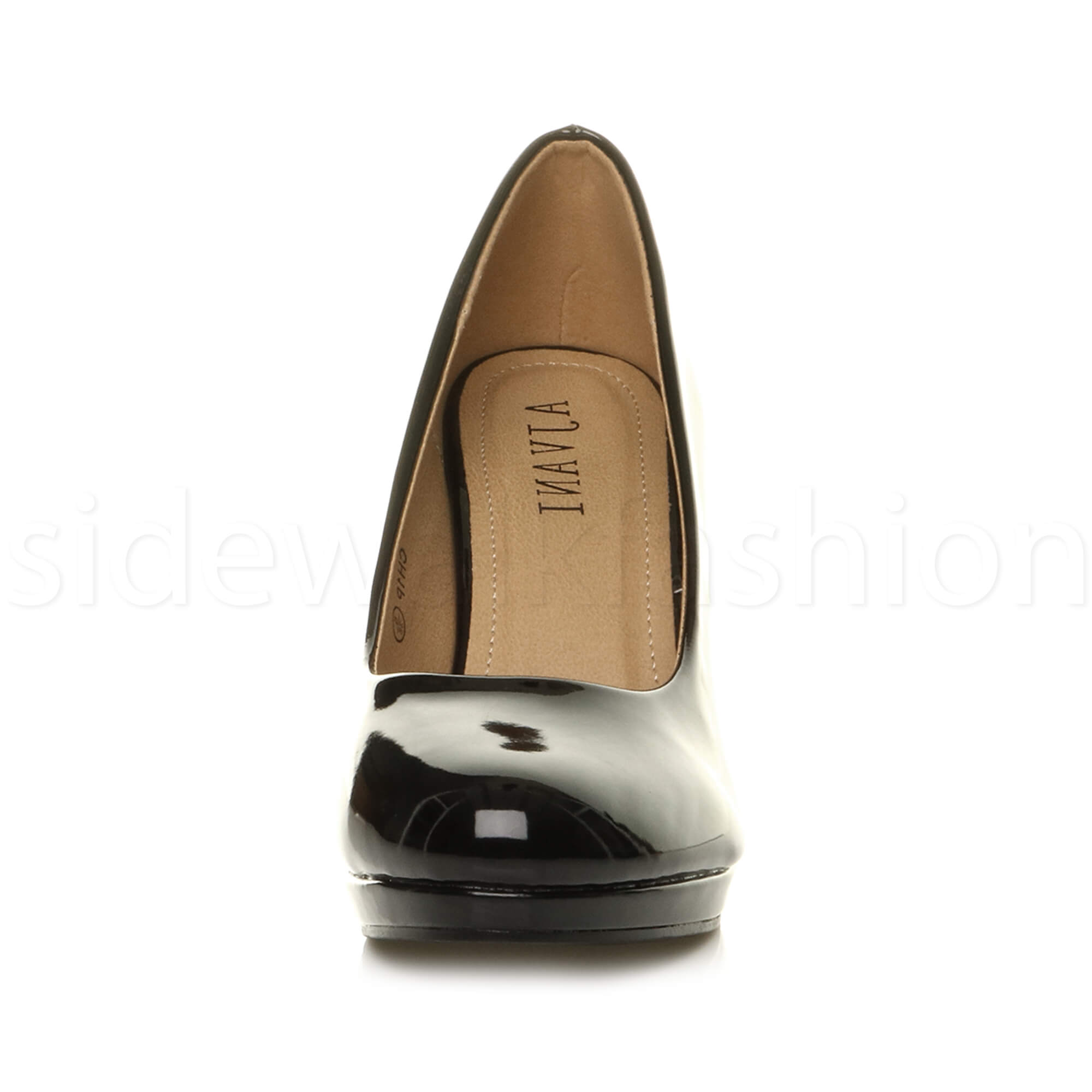 Womens-ladies-high-mid-heel-platform-wedding-evening-bridesmaid-court-shoes-size thumbnail 27