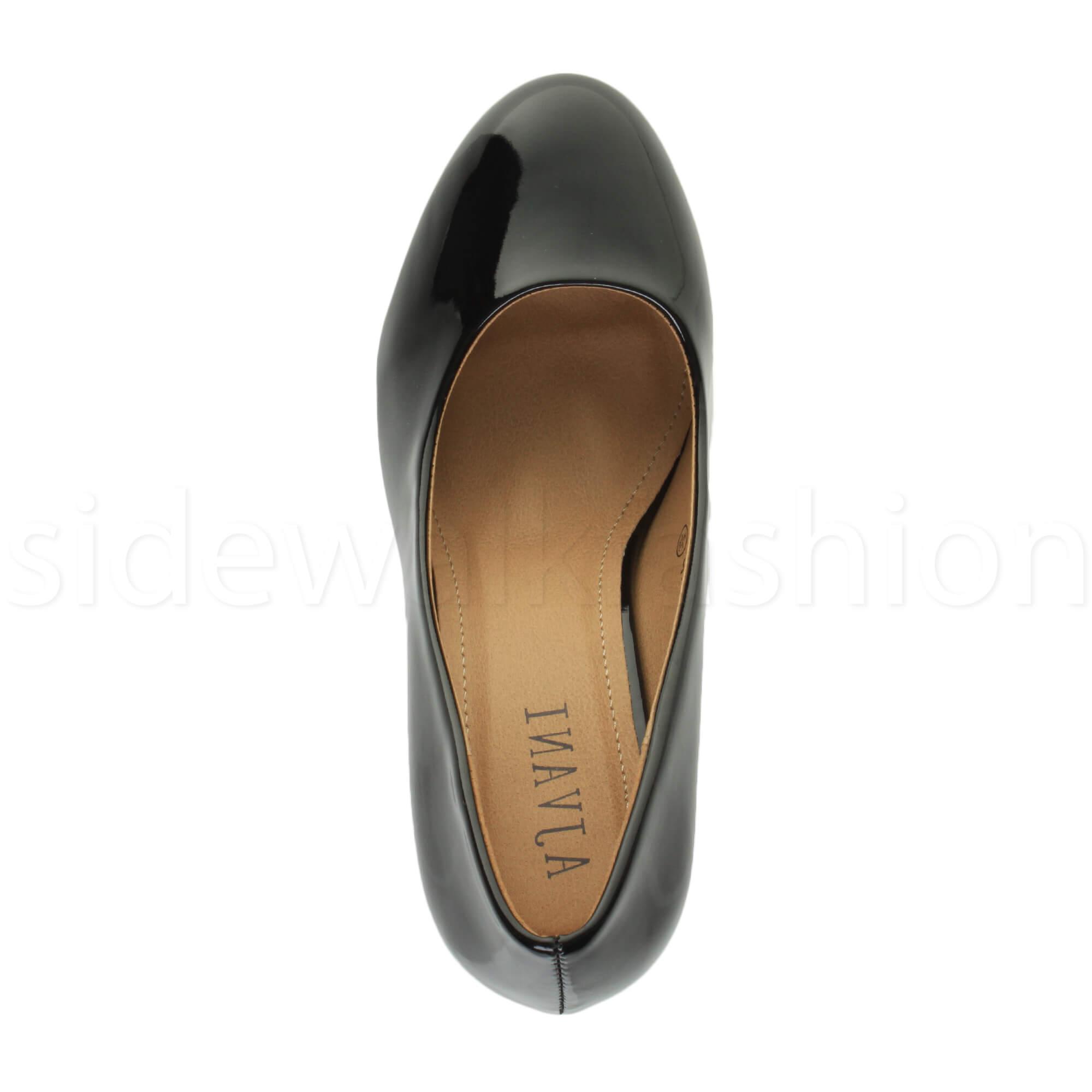 Womens-ladies-high-mid-heel-platform-wedding-evening-bridesmaid-court-shoes-size thumbnail 28