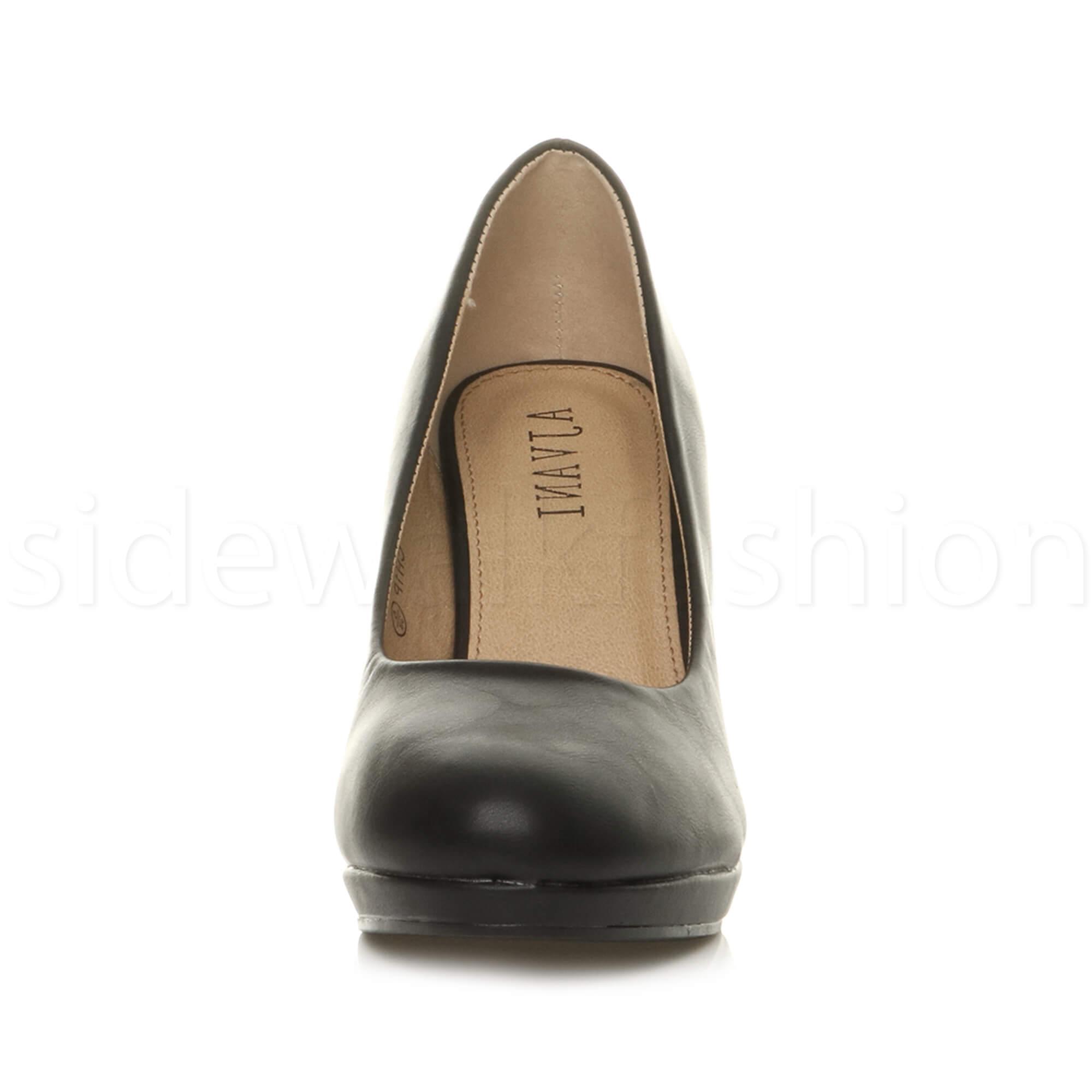 Womens-ladies-high-mid-heel-platform-wedding-evening-bridesmaid-court-shoes-size thumbnail 20