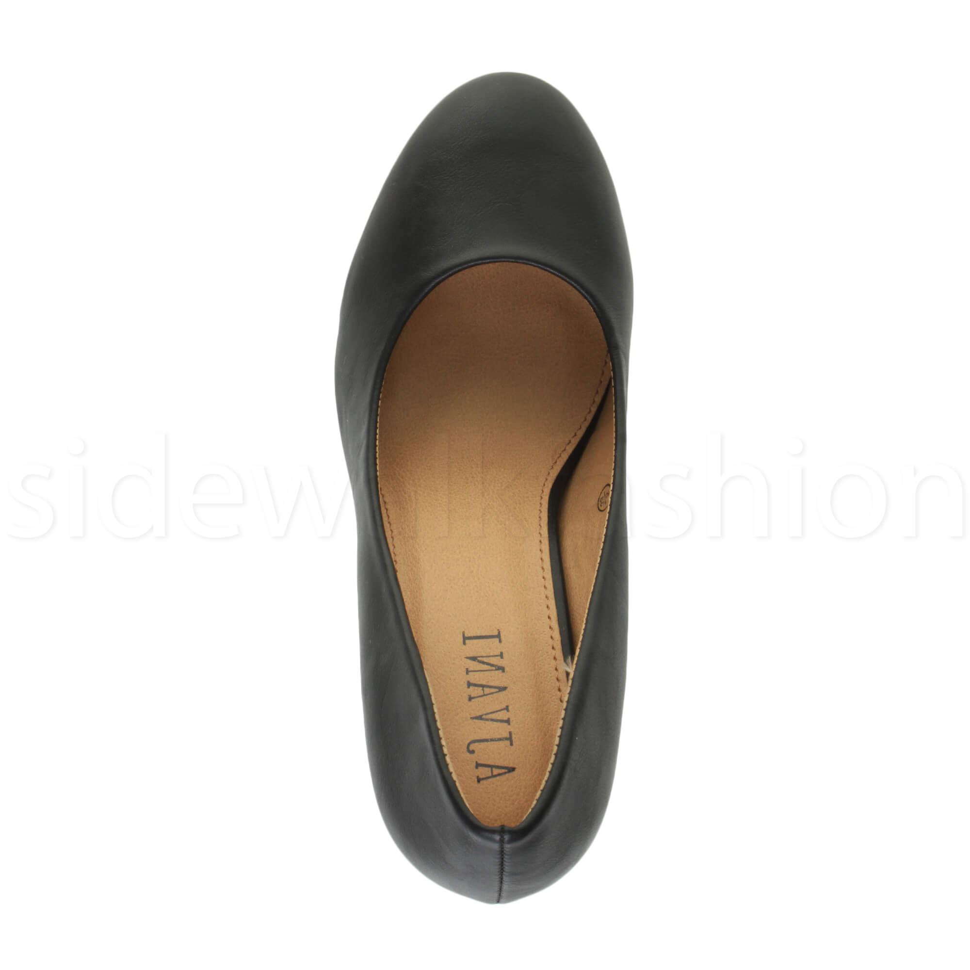 Womens-ladies-high-mid-heel-platform-wedding-evening-bridesmaid-court-shoes-size thumbnail 21