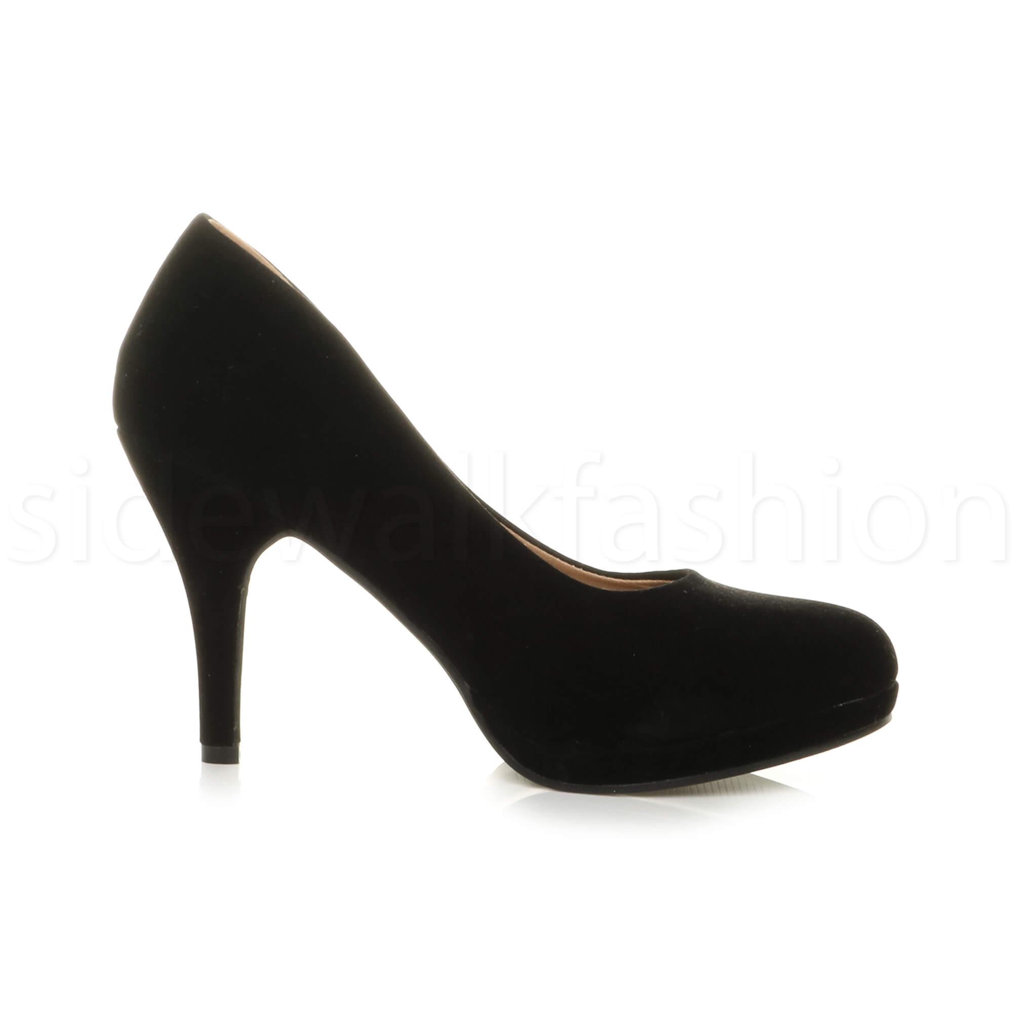 Womens-ladies-high-mid-heel-platform-wedding-evening-bridesmaid-court-shoes-size thumbnail 32