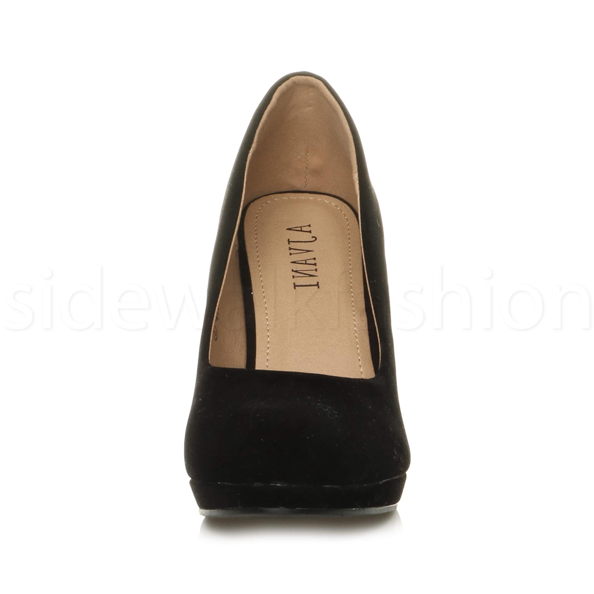 Womens-ladies-high-mid-heel-platform-wedding-evening-bridesmaid-court-shoes-size thumbnail 34