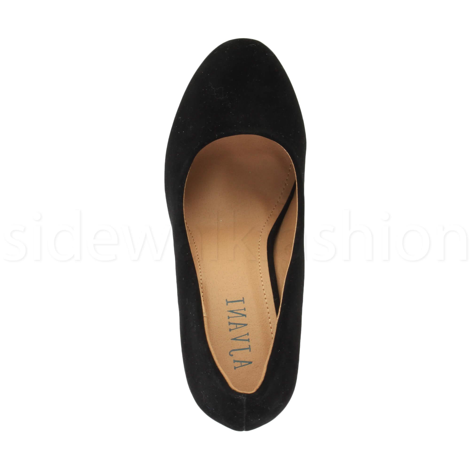 Womens-ladies-high-mid-heel-platform-wedding-evening-bridesmaid-court-shoes-size thumbnail 35