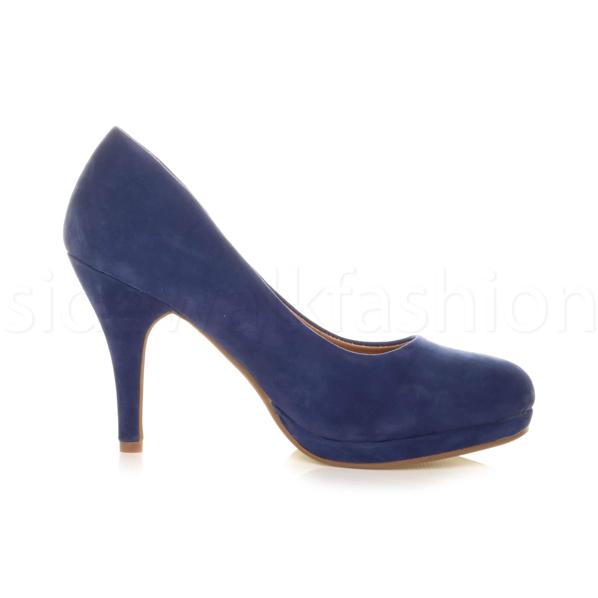 Womens-ladies-high-mid-heel-platform-wedding-evening-bridesmaid-court-shoes-size thumbnail 46