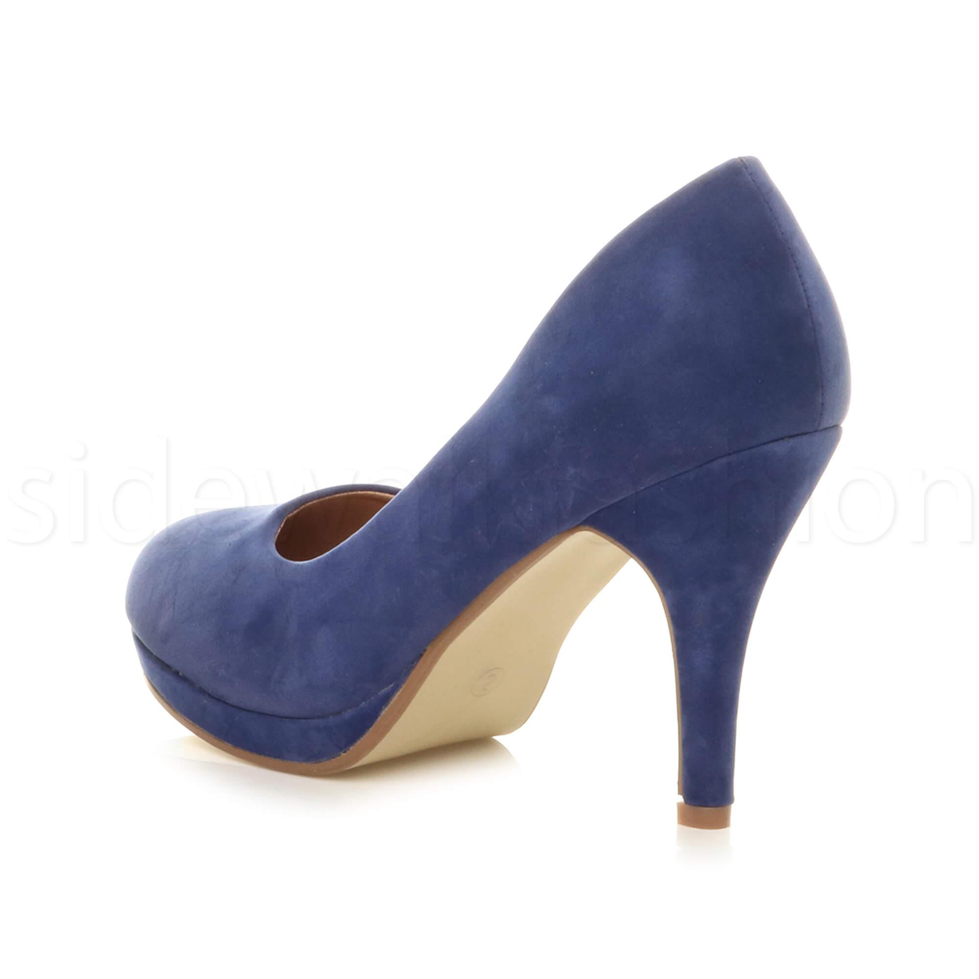 Womens-ladies-high-mid-heel-platform-wedding-evening-bridesmaid-court-shoes-size thumbnail 47