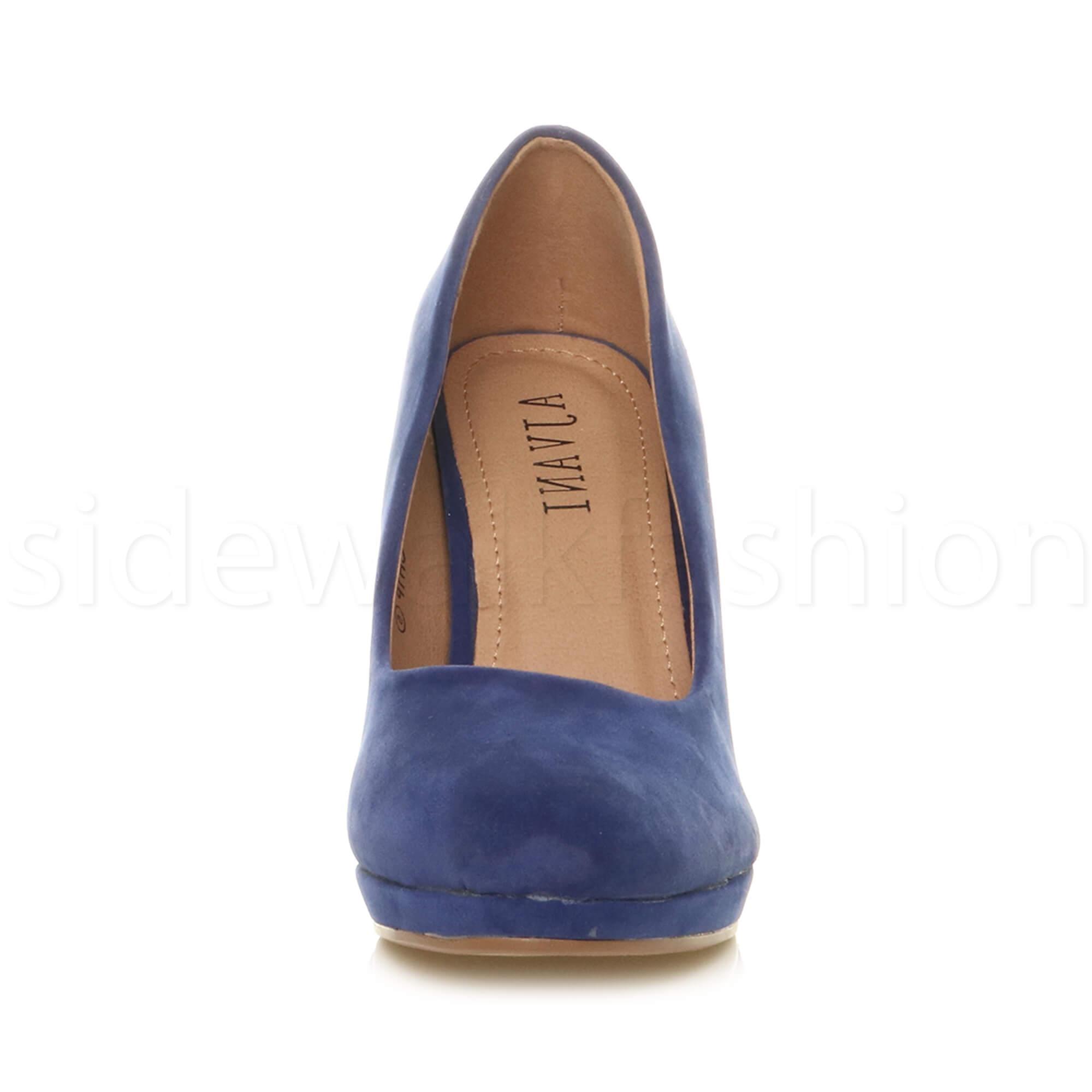 Womens-ladies-high-mid-heel-platform-wedding-evening-bridesmaid-court-shoes-size thumbnail 48