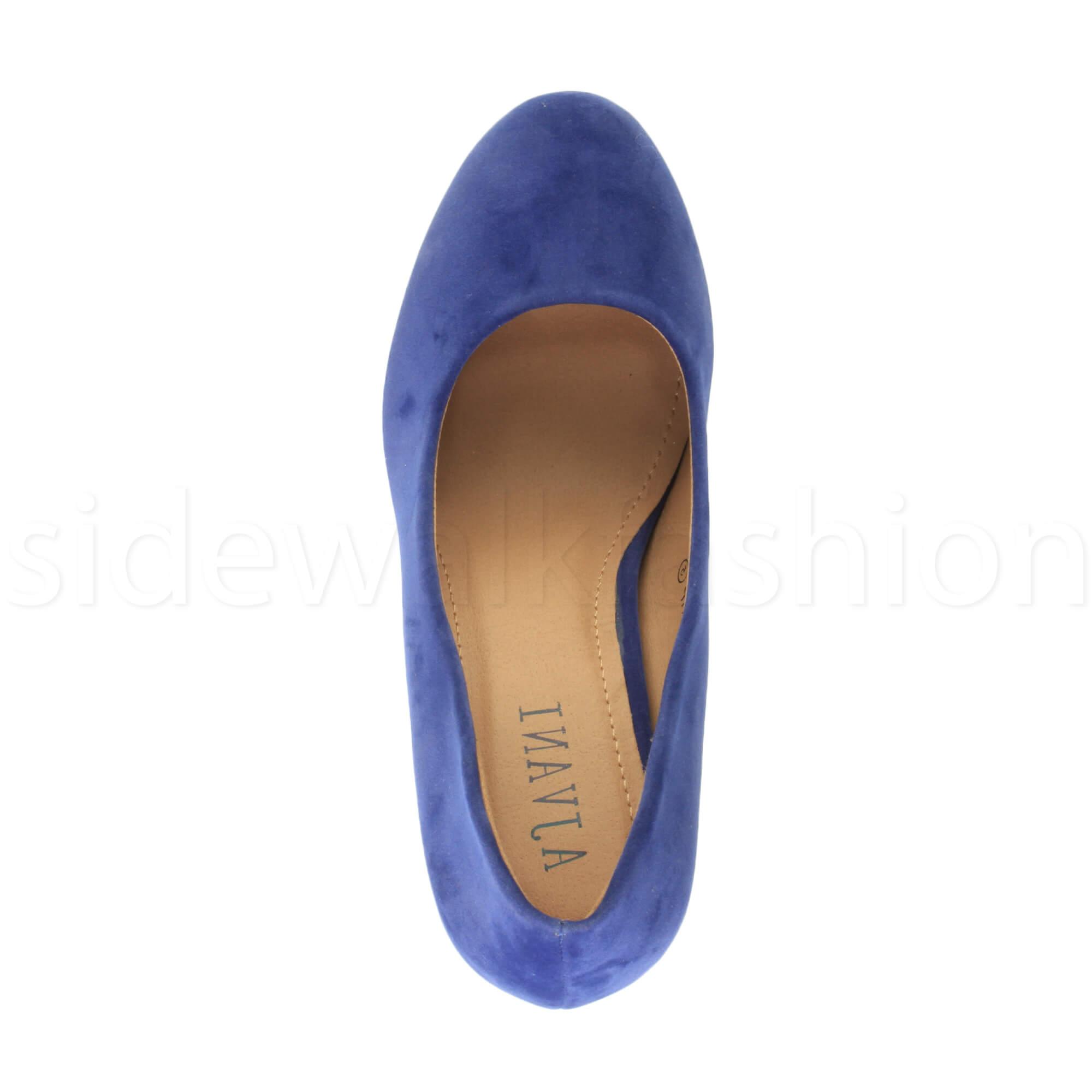 Womens-ladies-high-mid-heel-platform-wedding-evening-bridesmaid-court-shoes-size thumbnail 49