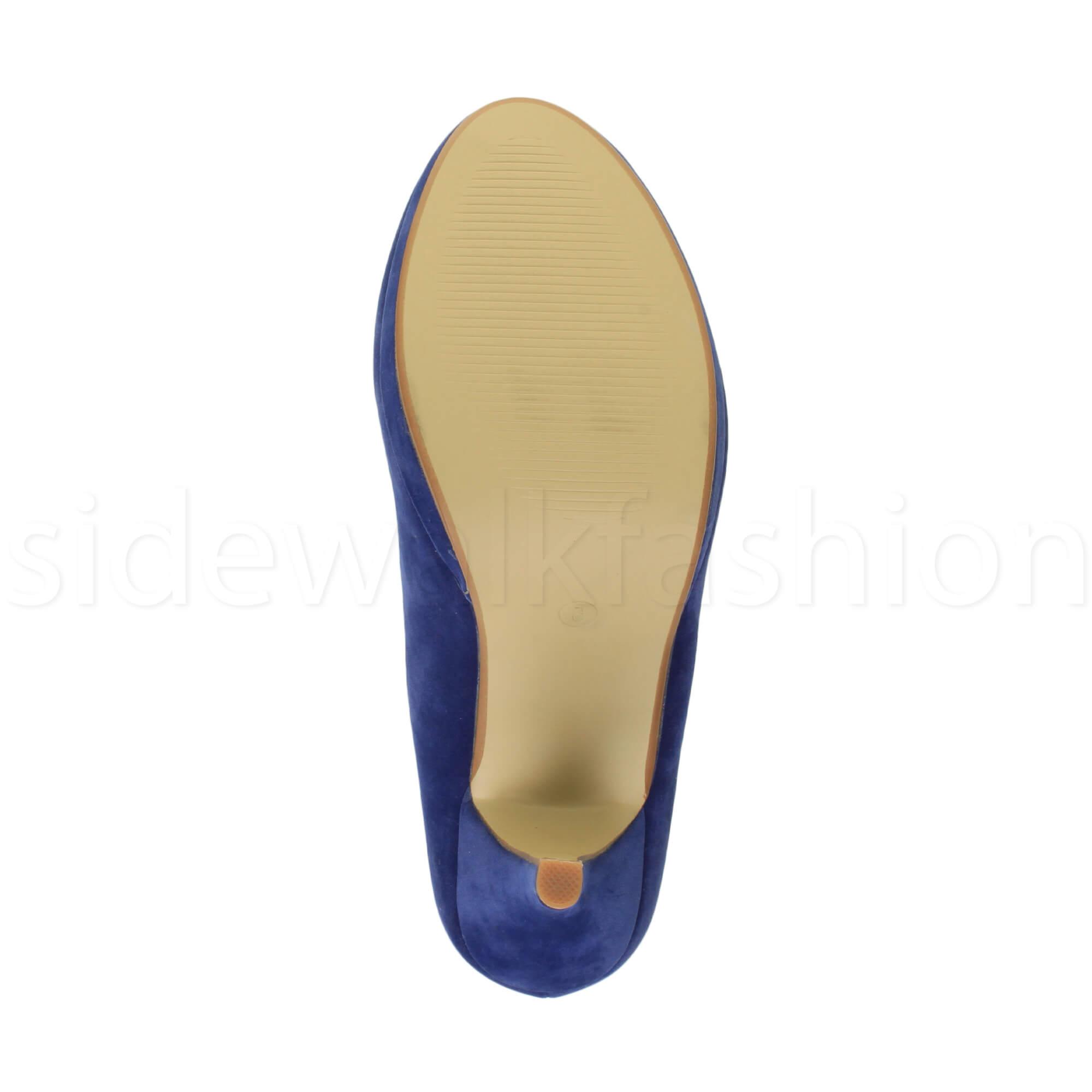 Womens-ladies-high-mid-heel-platform-wedding-evening-bridesmaid-court-shoes-size thumbnail 50
