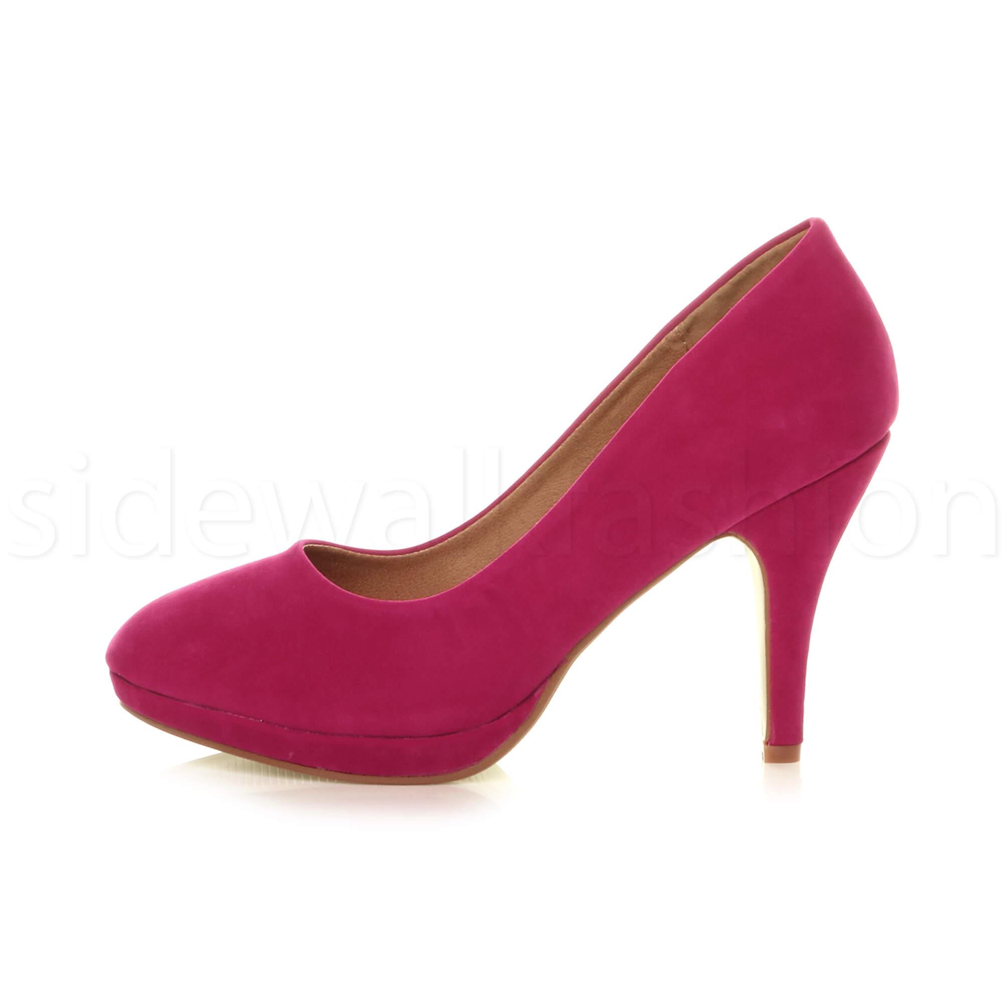 Womens-ladies-high-mid-heel-platform-wedding-evening-bridesmaid-court-shoes-size thumbnail 52