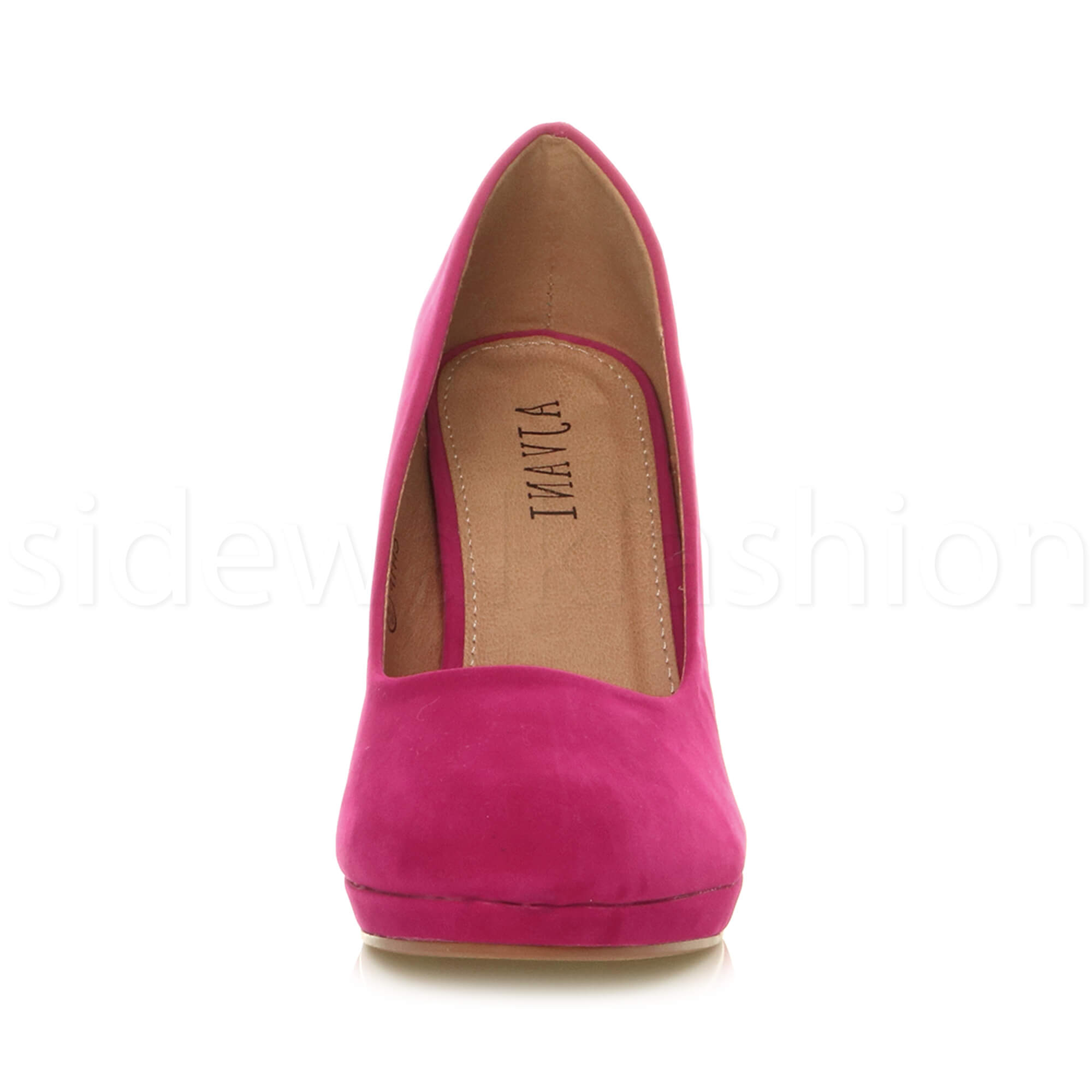 Womens-ladies-high-mid-heel-platform-wedding-evening-bridesmaid-court-shoes-size thumbnail 55