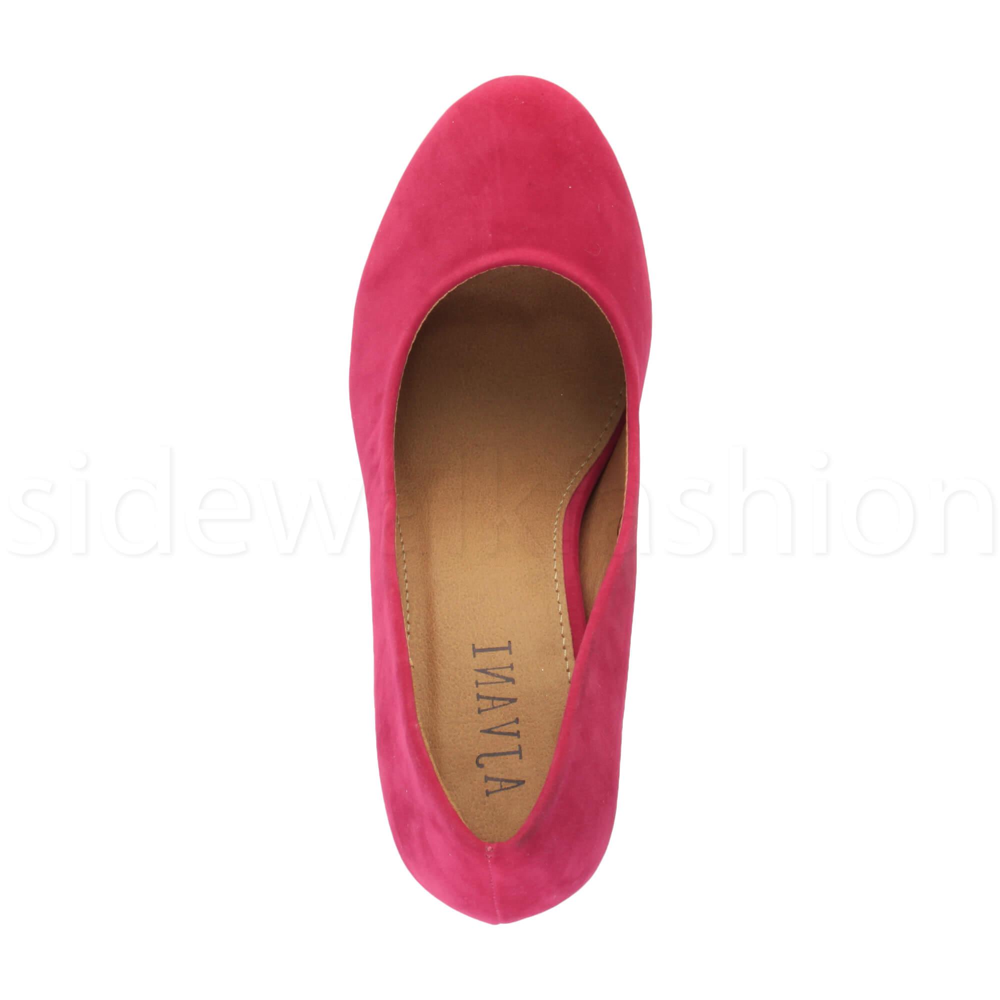 Womens-ladies-high-mid-heel-platform-wedding-evening-bridesmaid-court-shoes-size thumbnail 56