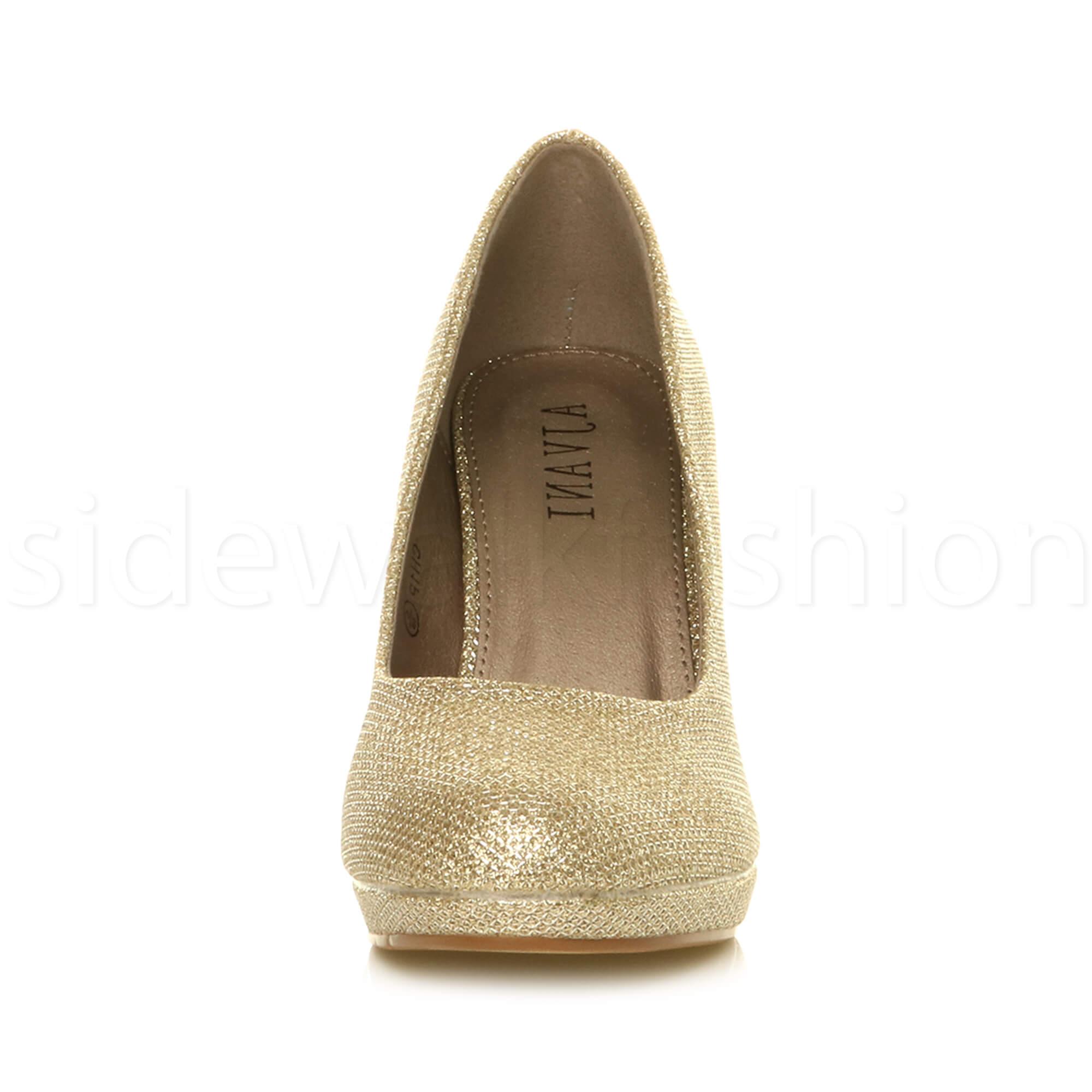 Womens-ladies-high-mid-heel-platform-wedding-evening-bridesmaid-court-shoes-size thumbnail 69
