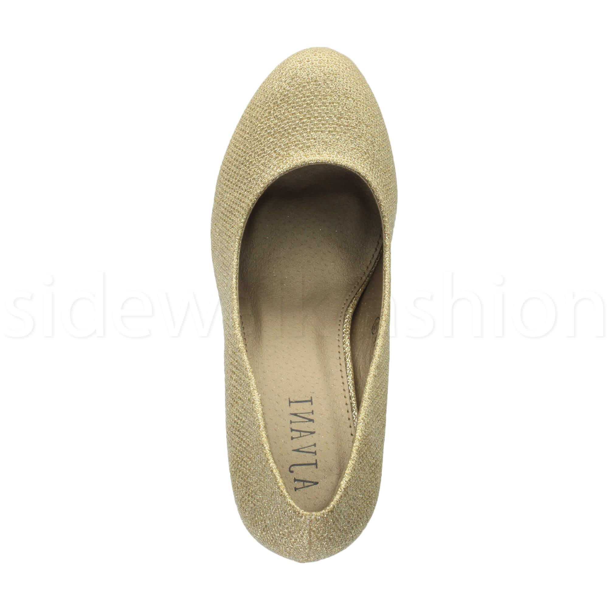 Womens-ladies-high-mid-heel-platform-wedding-evening-bridesmaid-court-shoes-size thumbnail 70