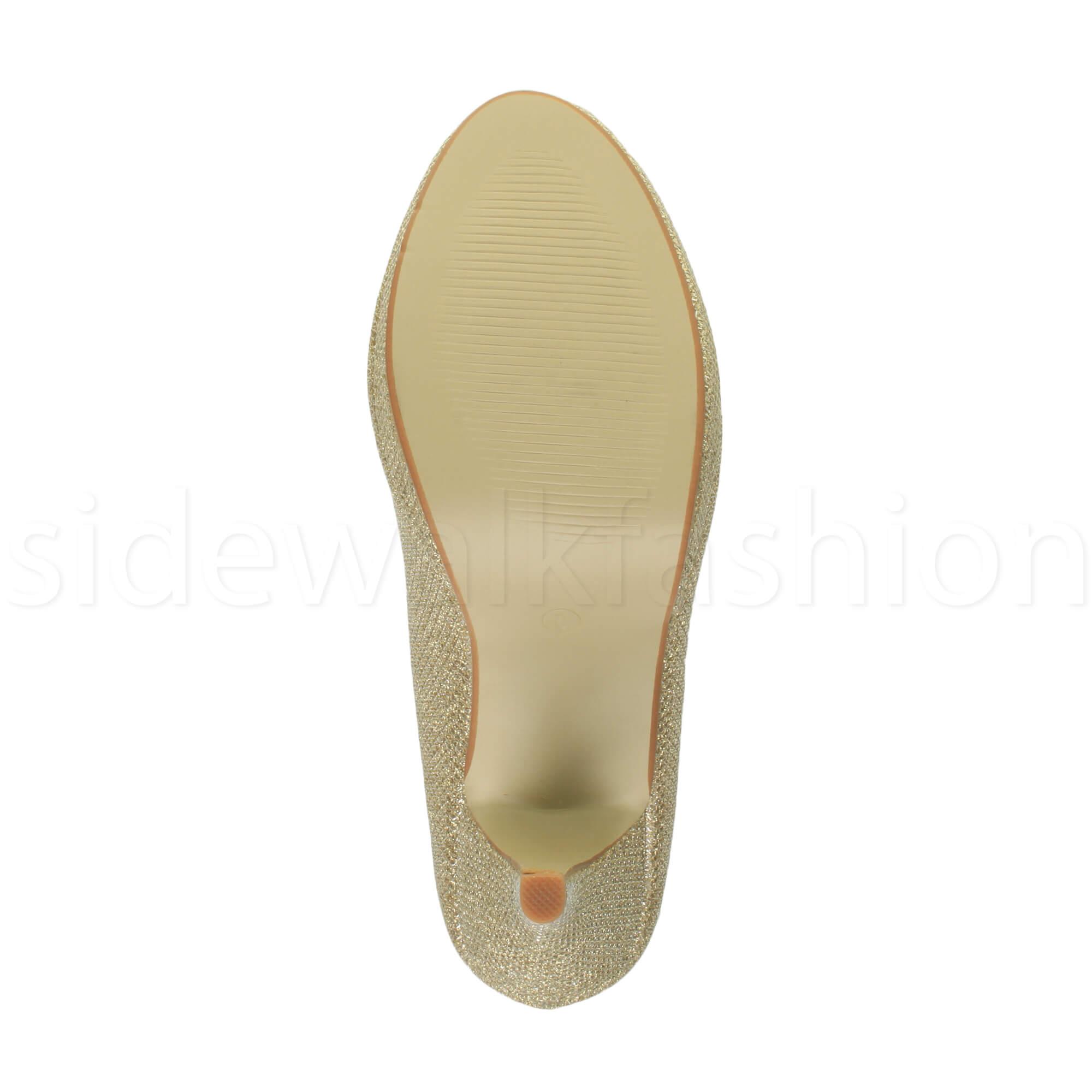 Womens-ladies-high-mid-heel-platform-wedding-evening-bridesmaid-court-shoes-size thumbnail 71