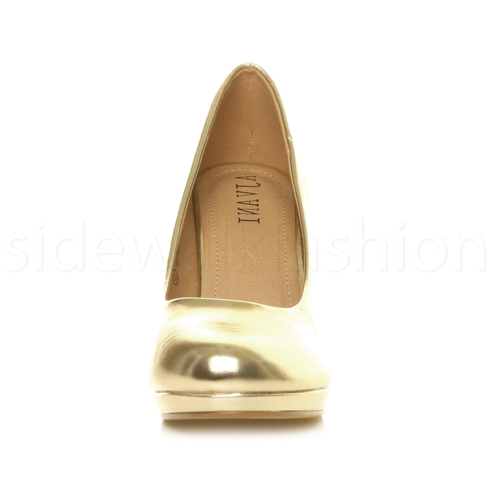 Womens-ladies-high-mid-heel-platform-wedding-evening-bridesmaid-court-shoes-size thumbnail 62