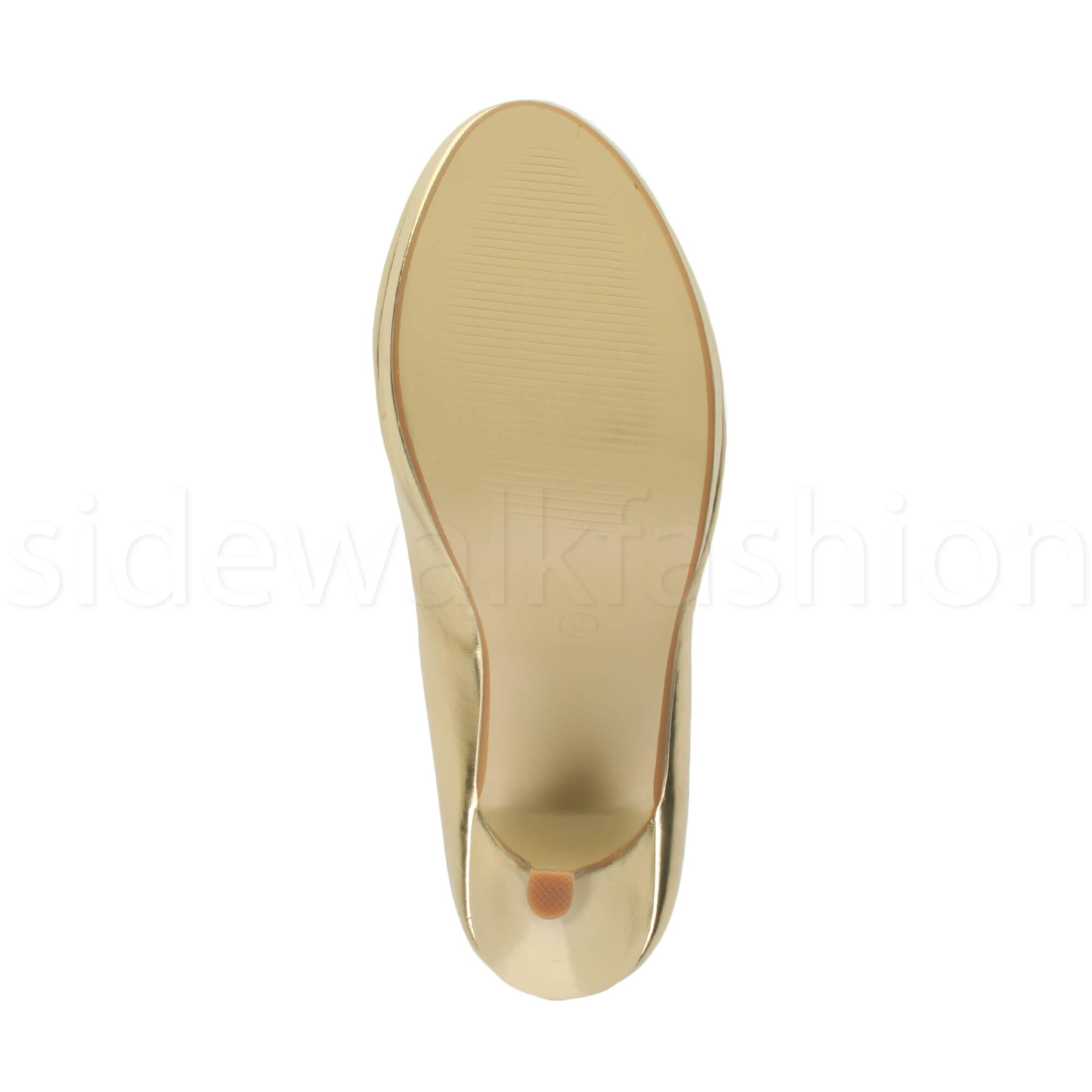 Womens-ladies-high-mid-heel-platform-wedding-evening-bridesmaid-court-shoes-size thumbnail 64