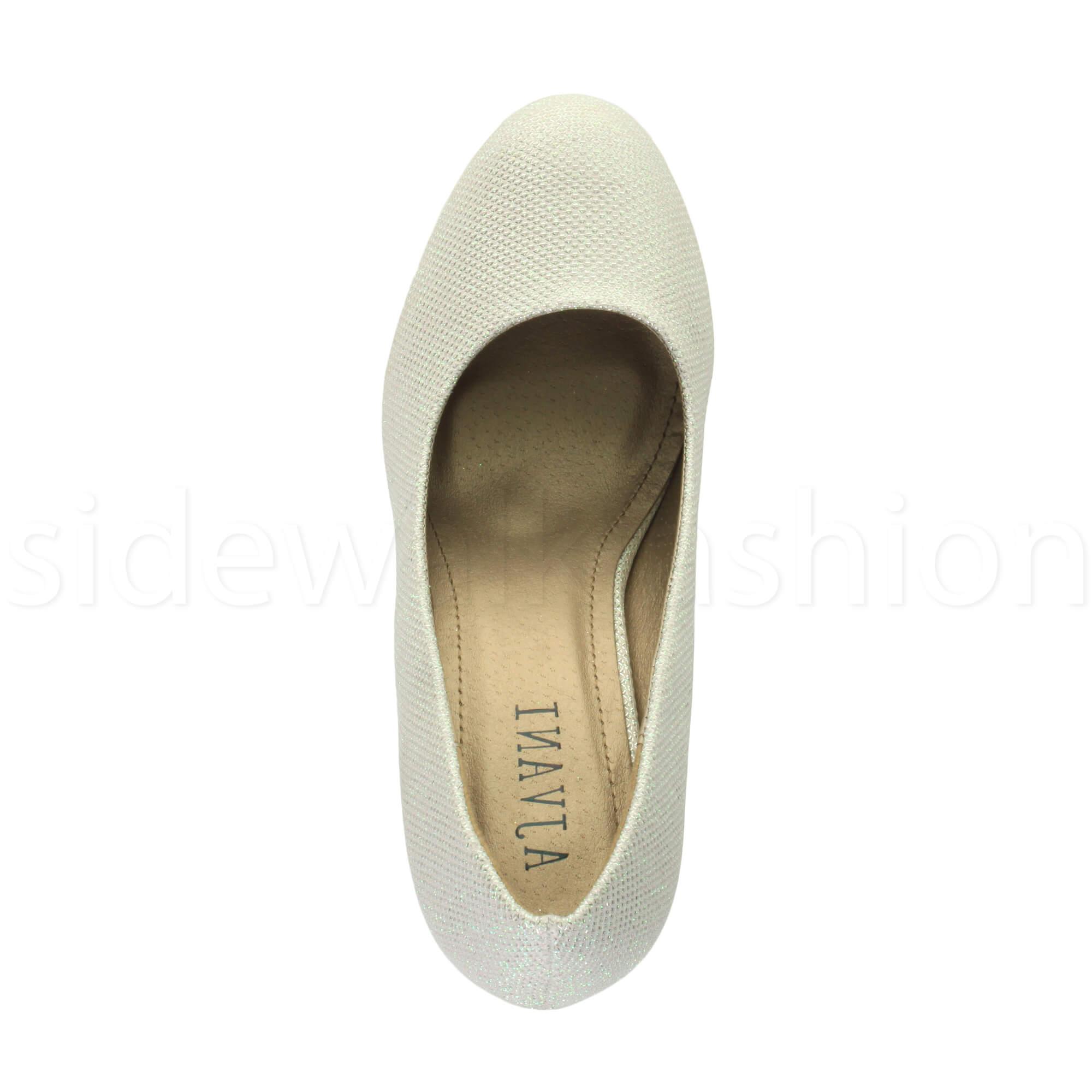 Womens-ladies-high-mid-heel-platform-wedding-evening-bridesmaid-court-shoes-size thumbnail 84