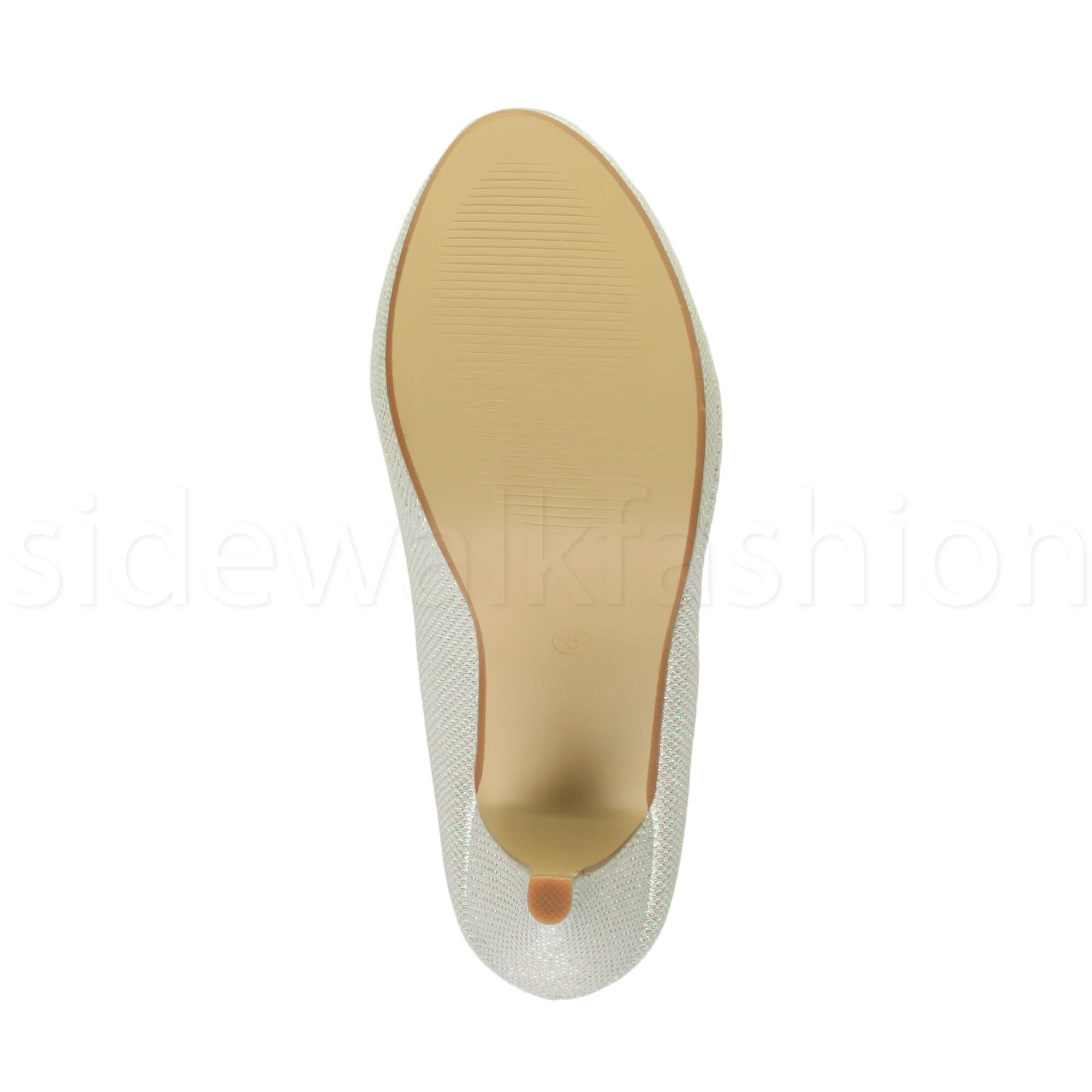 Womens-ladies-high-mid-heel-platform-wedding-evening-bridesmaid-court-shoes-size thumbnail 85