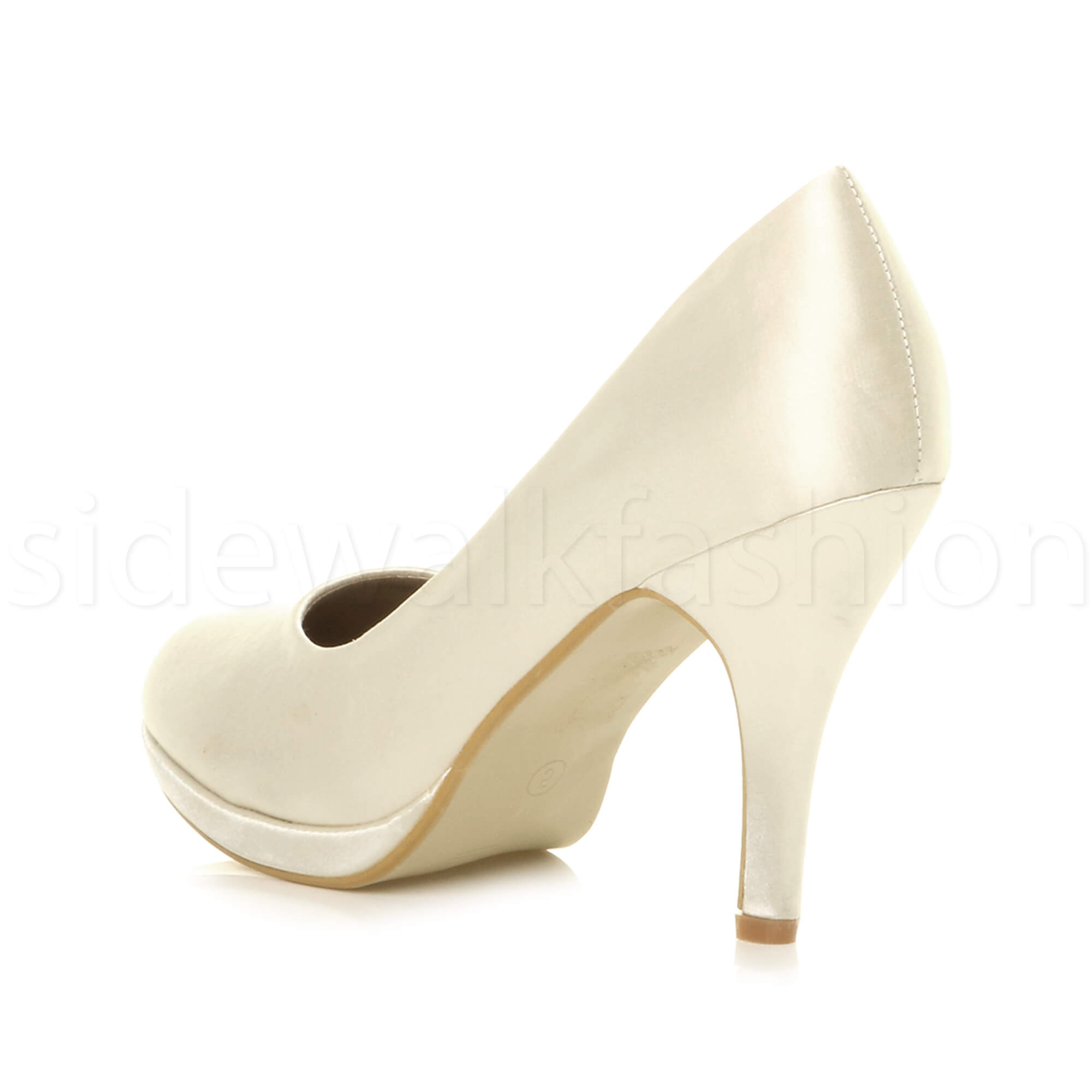Womens-ladies-high-mid-heel-platform-wedding-evening-bridesmaid-court-shoes-size thumbnail 96