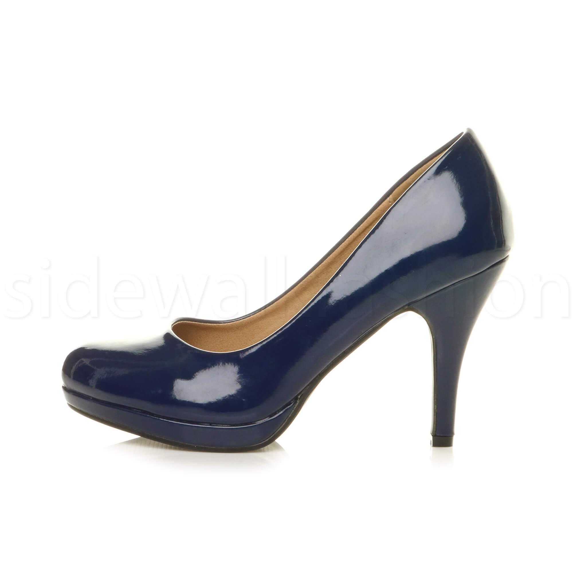 Navy Psrty Shoes Mid Heel